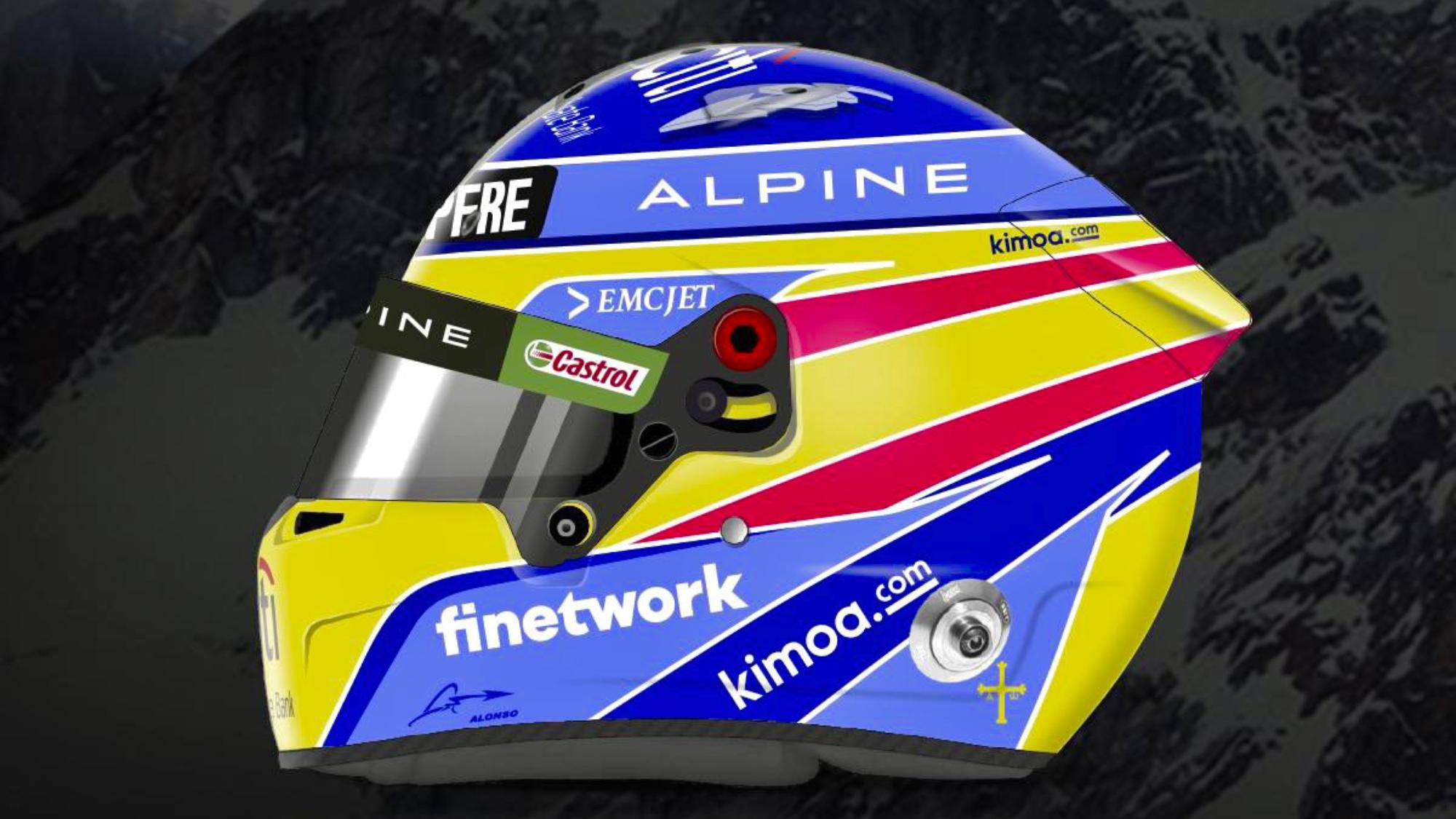Fernando Alonso 2021 F1 helmet