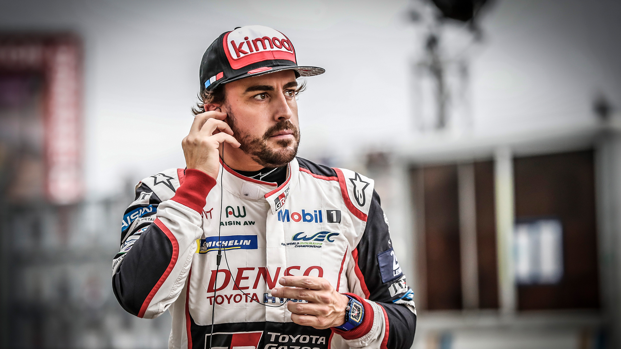 Fernando Alonso at the 2018 Le Mans 24 Hours