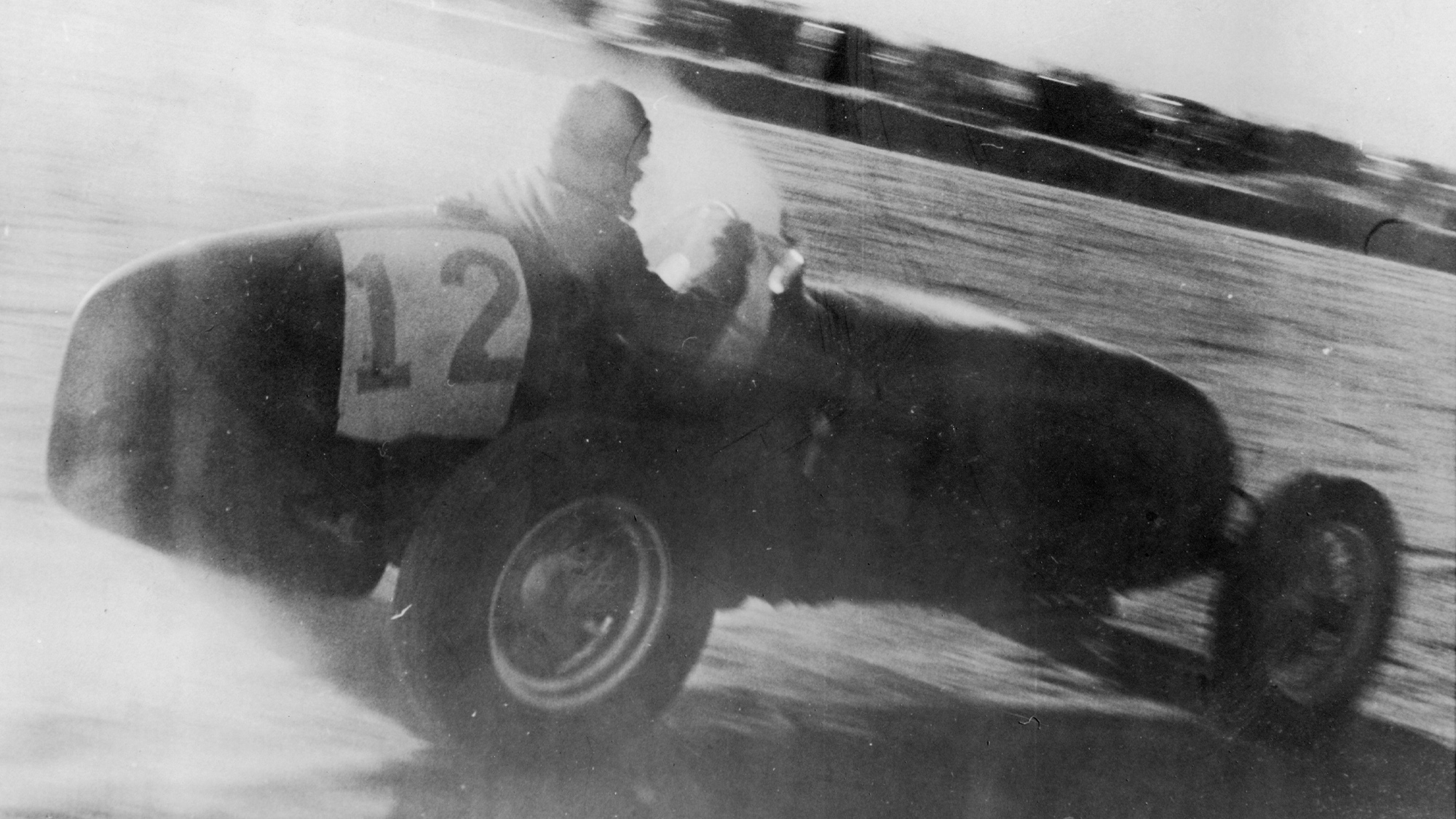 George Abecassis racing in the 1947 Swedish Grand Prix