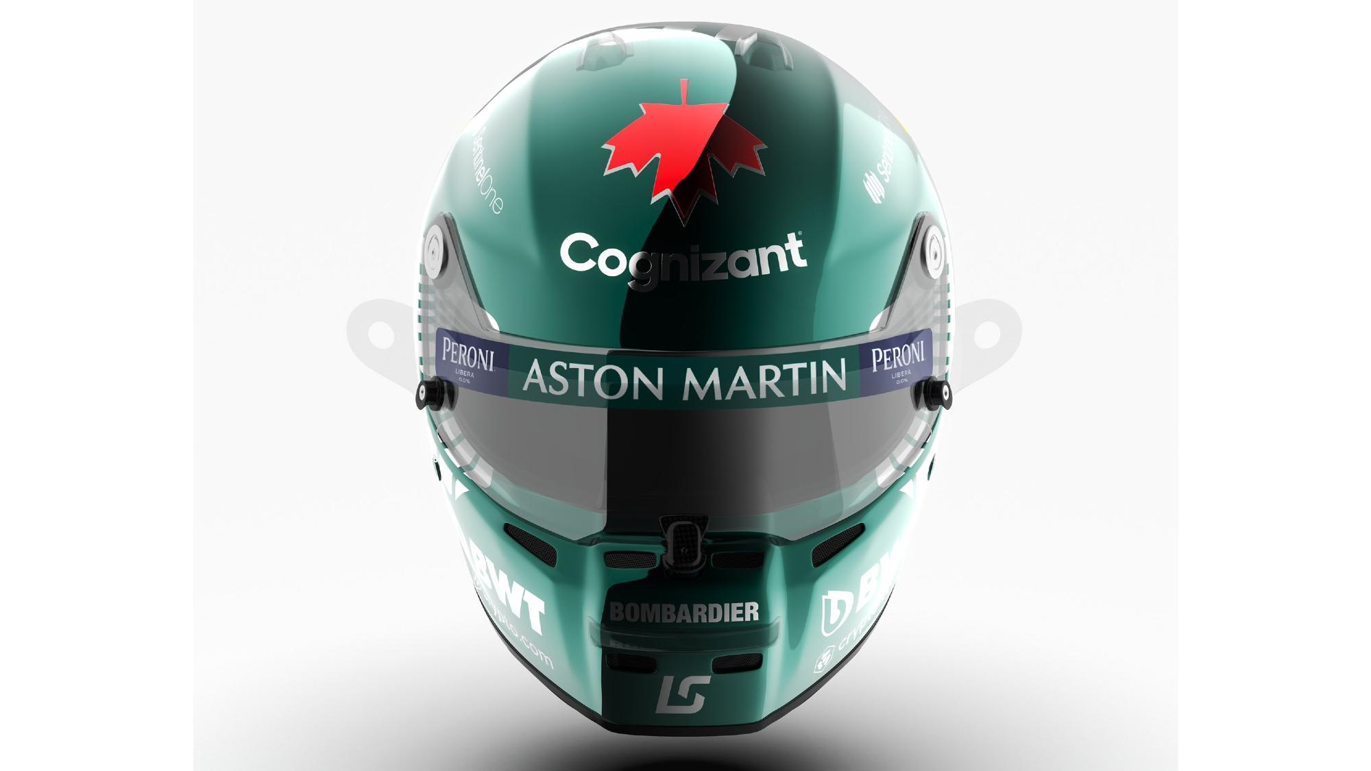 Lance Stroll 2021 F1 helmet
