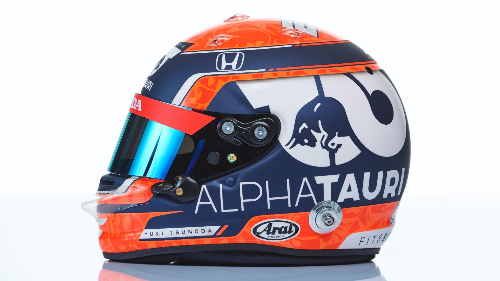 Yuki Tsunoda F1 2021 Helmet
