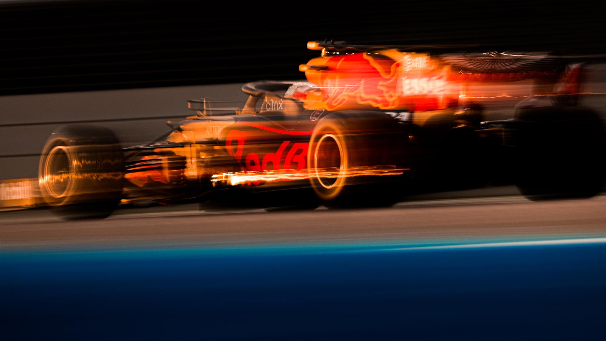 2020 Red Bull blurred