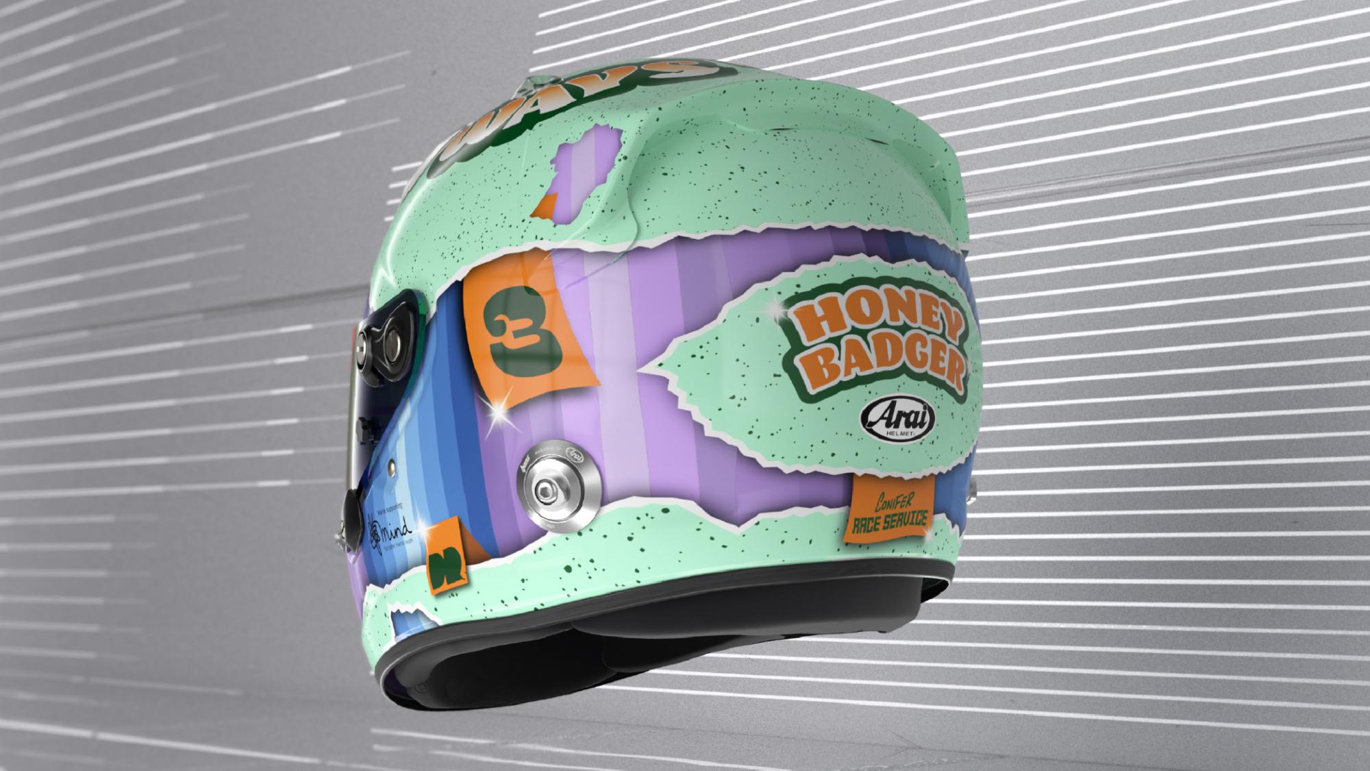 Daniel Ricciardo 2021 F1 helmet