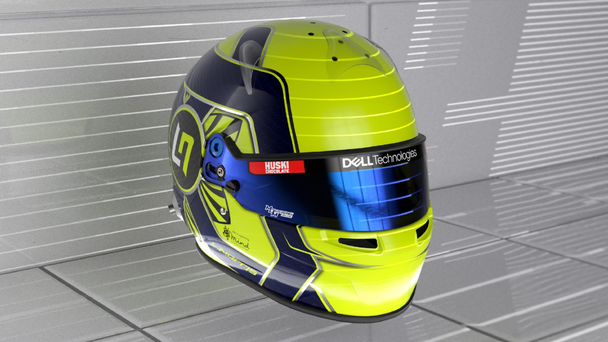 Lando Norris 2021 F1 helmet