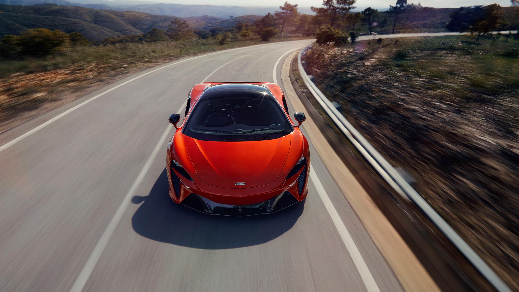 2021 McLaren Artura front overhead