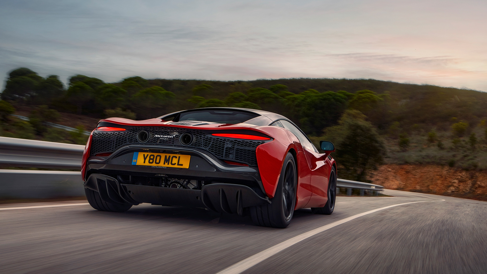 2021 McLaren Artura rear tq
