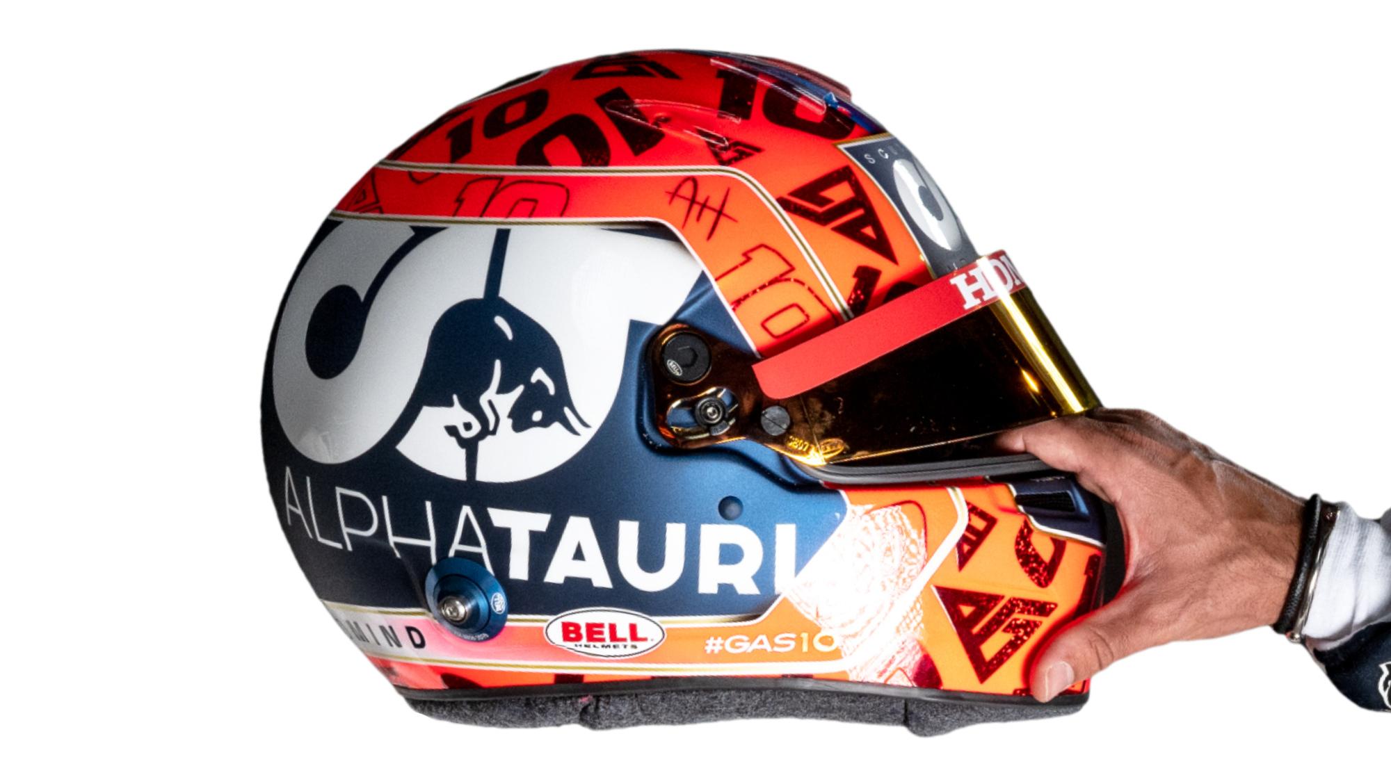 Pierre Gasly 2021 AlphaTauri helmet