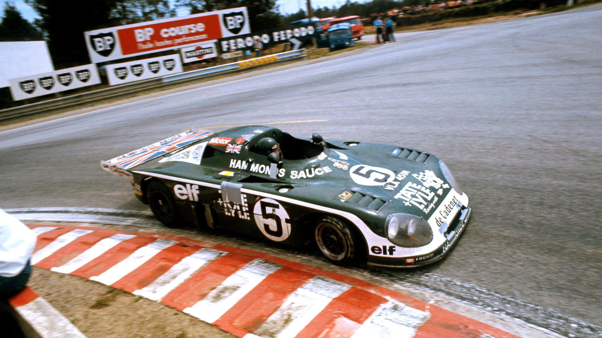 Chris Craft Alain de Cadenet Lola Ford Cosworth at Le Mans in 1977