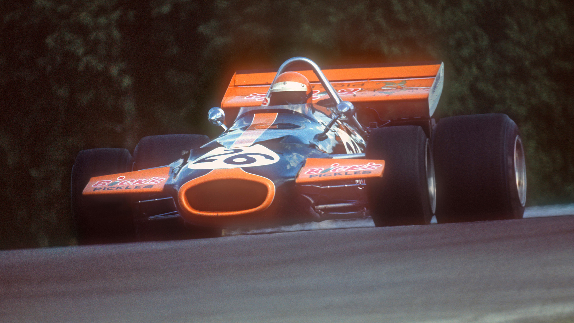 Chris Craft in practice for the 1971 Canadian Grand Prix