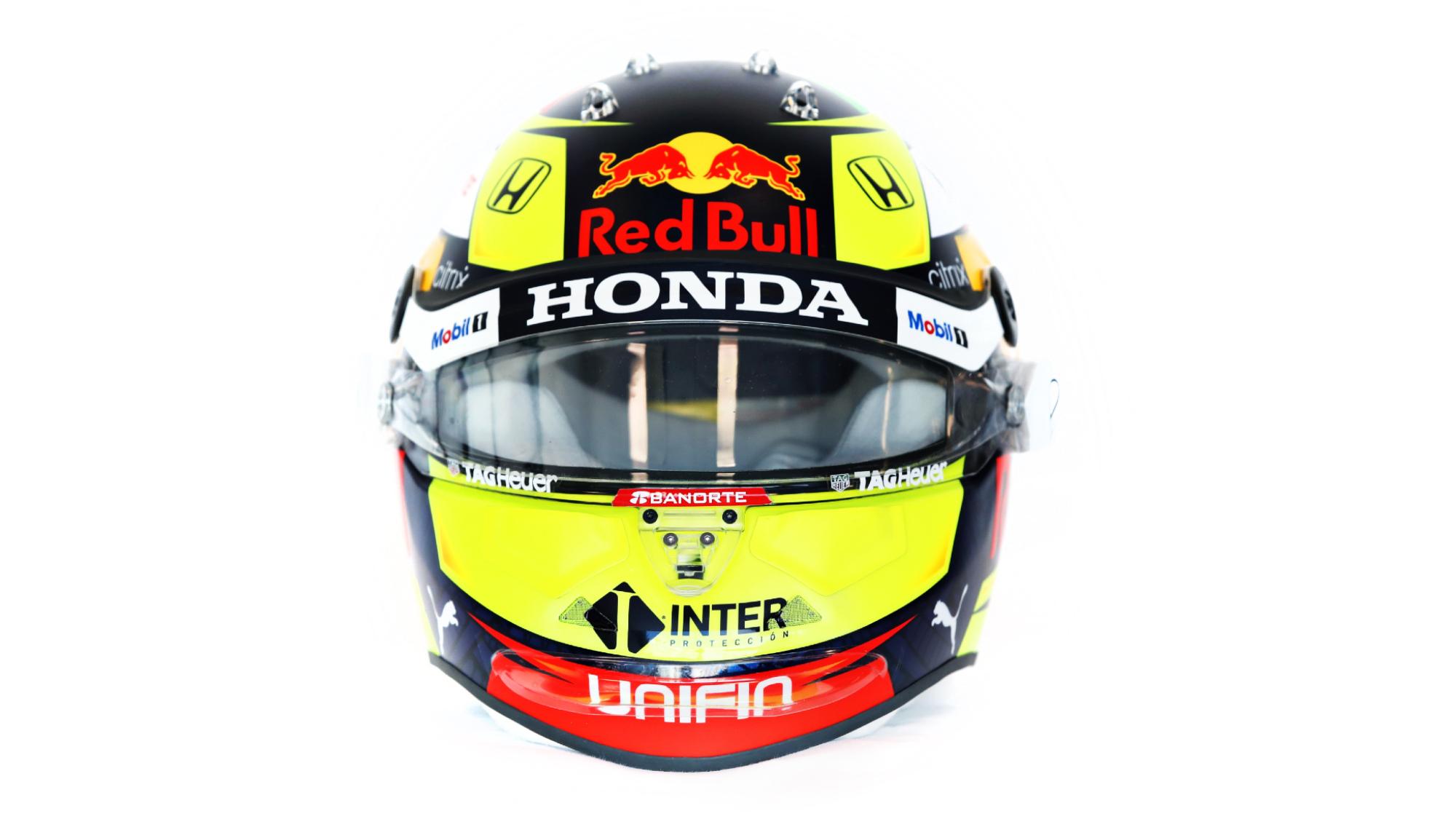 Sergio Perez 2021 helmet