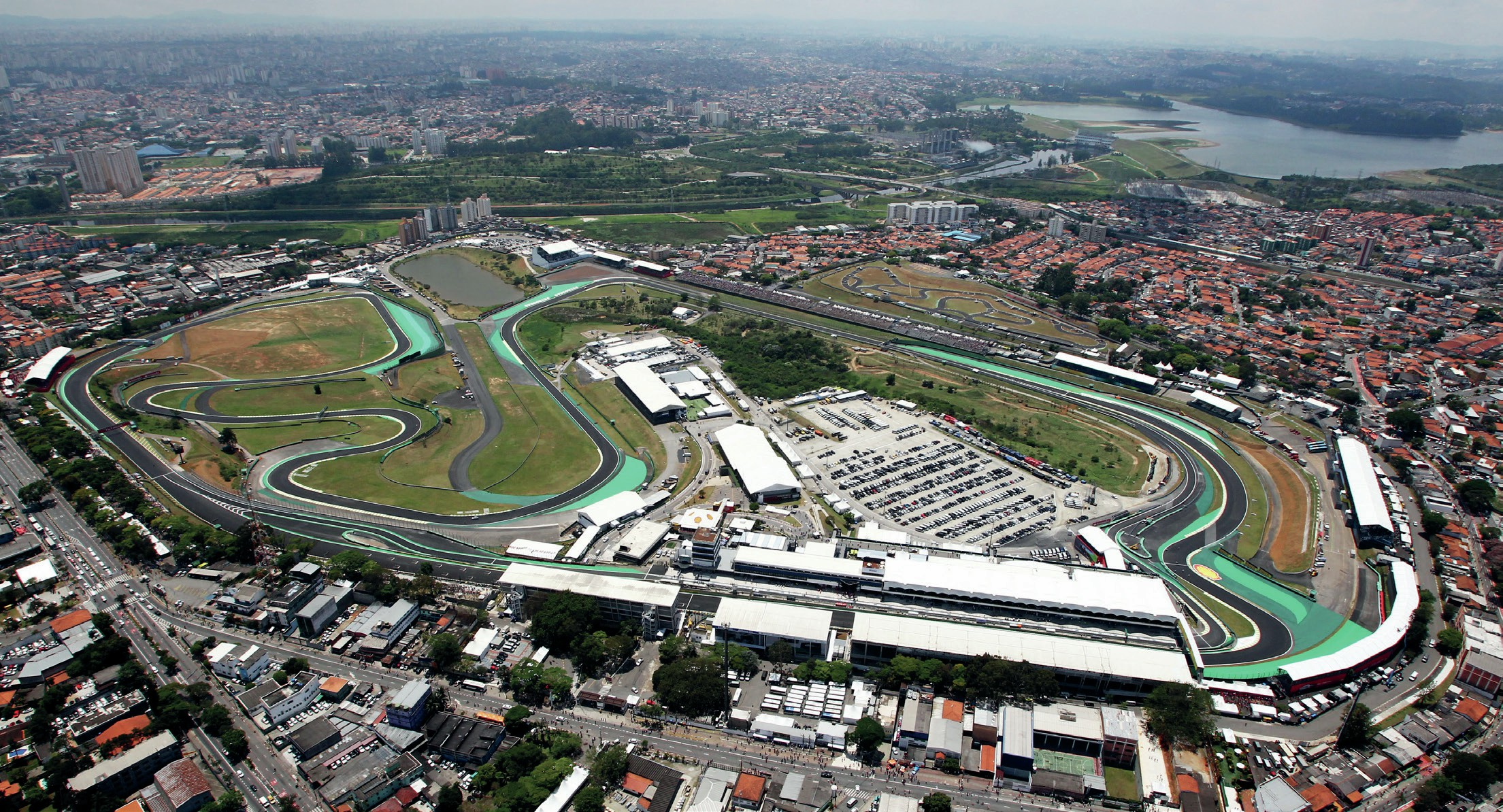 Interlagos circuit from the air