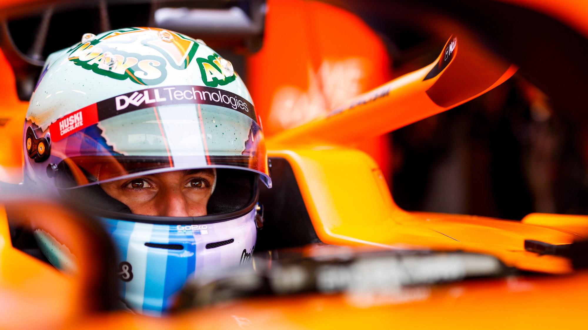 Daniel Ricciardo, 2021 McLaren filming day