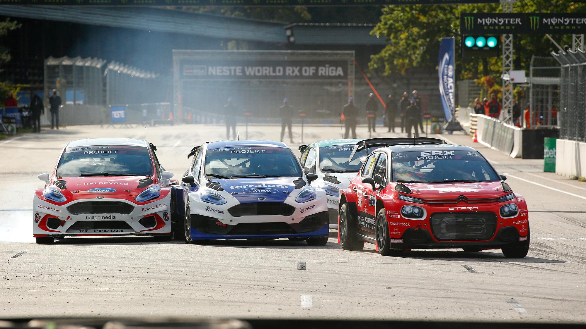Projekt E rallycross cars
