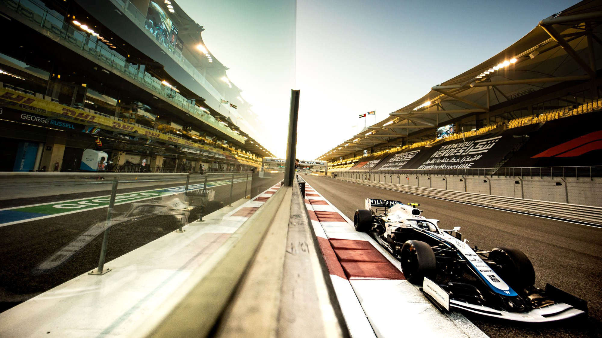 Nicholas Latifi (CDN) Williams Racing FW43. Abu Dhabi Grand Prix, Friday 11th December 2020. Yas Marina Circuit, Abu Dhabi, UAE.