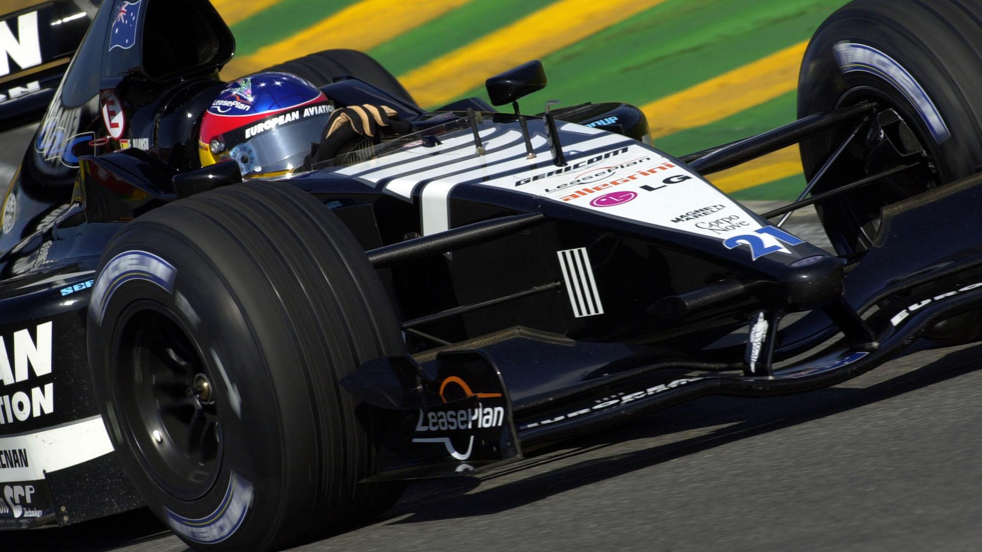 AUTO - F1 2001 - BRAZILIAN GRAND-PRIX 010401 - SAO PAULO - PHOTO: GILLES LEVENT / DPPI FERNANDO ALONSO (SPA) / EUROPEAN MINARDI #
