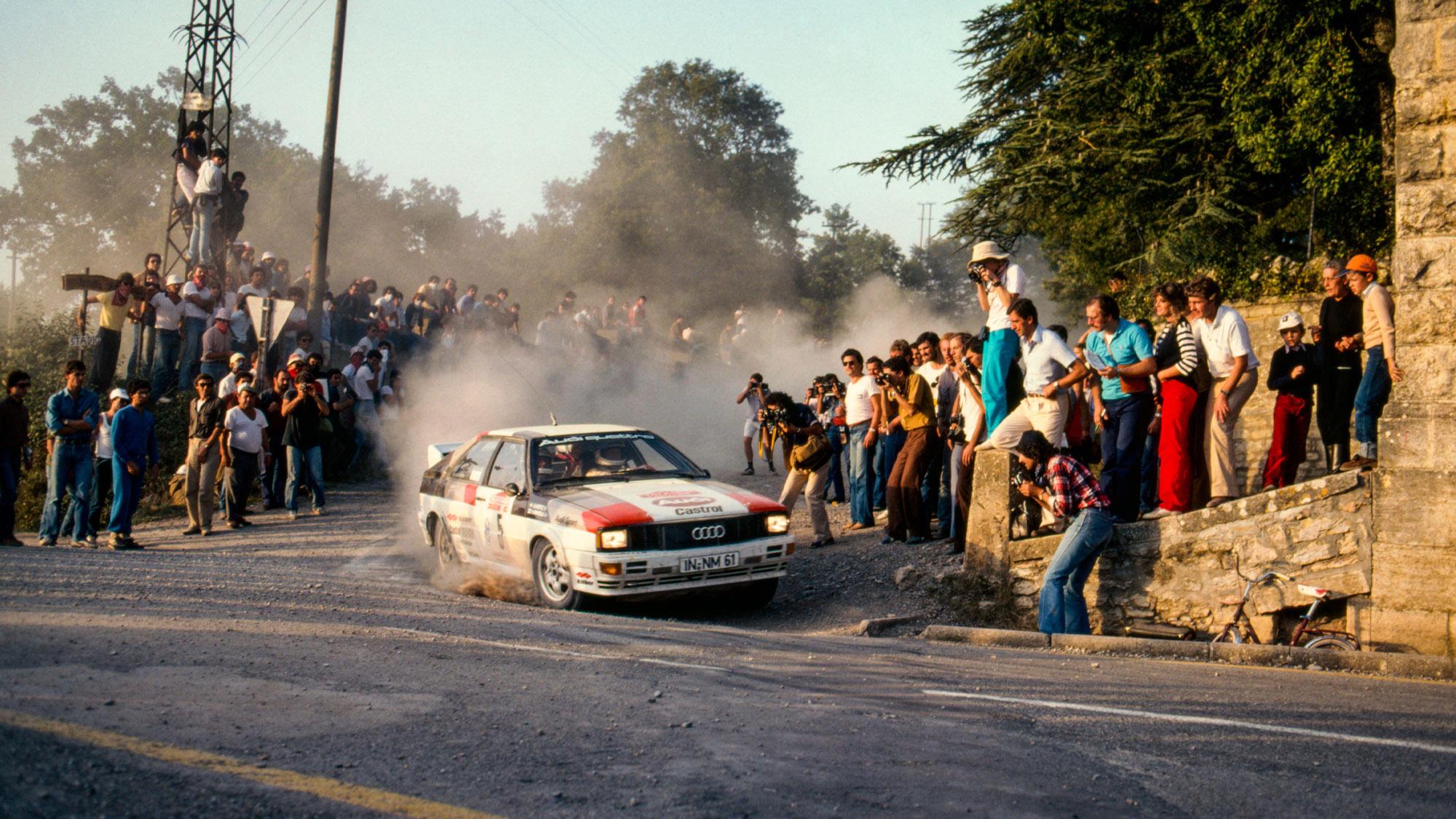 Hannu Mikkola on the 1981 San Remo Rally