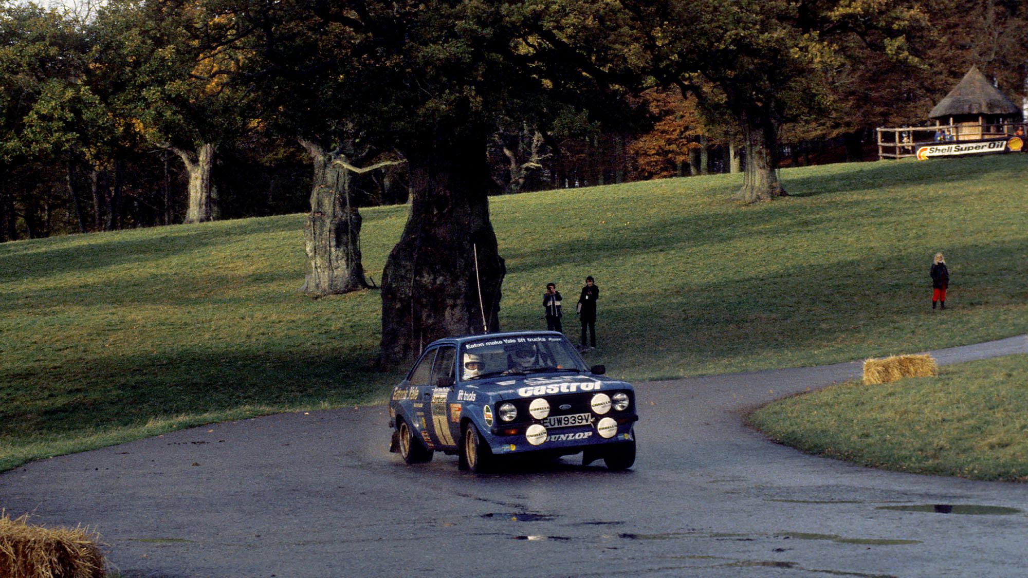 Hannu Mikkola Ford Escort on the 1980 RAC Rally
