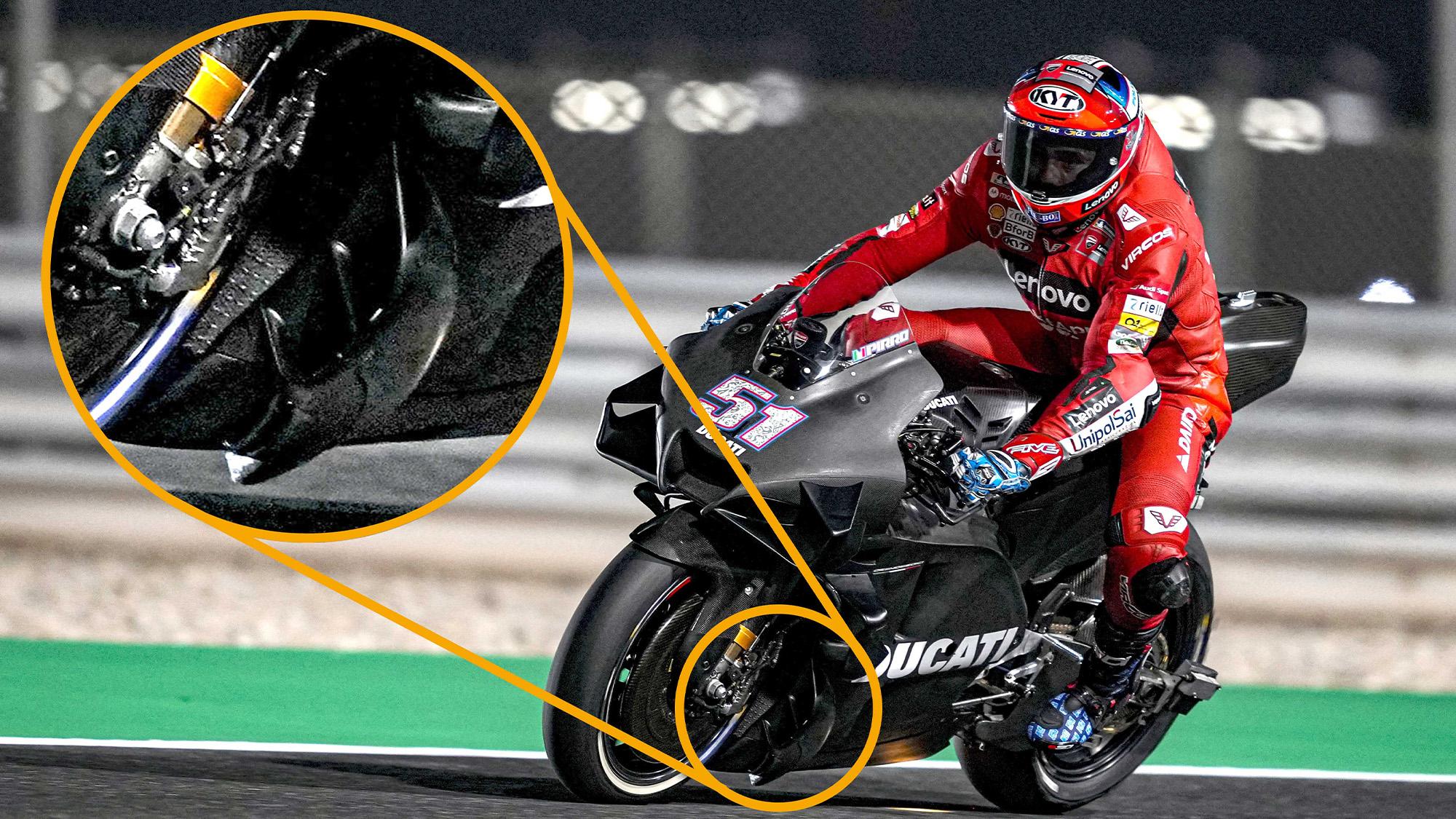 Pirro Ducati aero detail 2021 testing