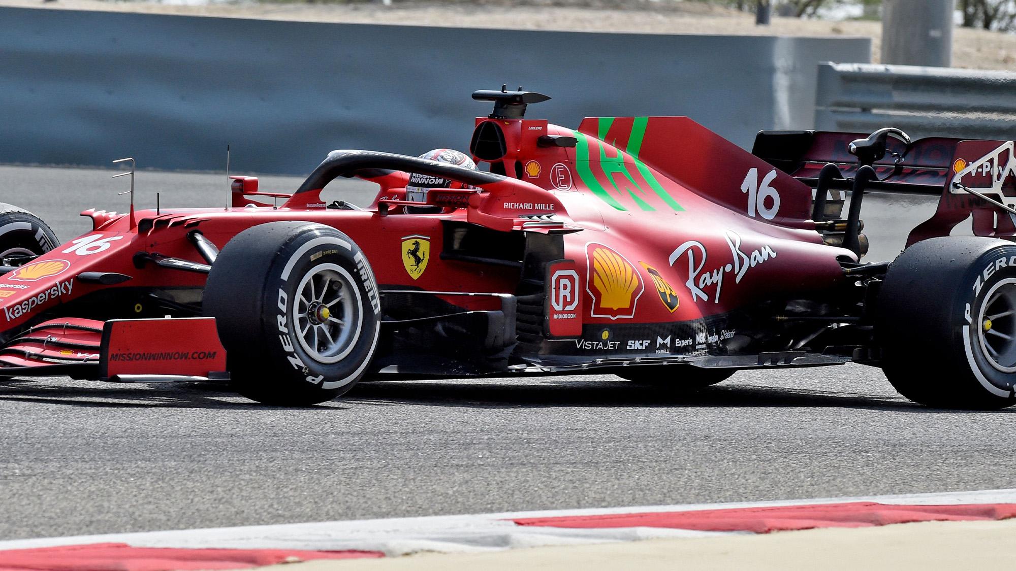 Charles Leclerc Ferrari 2021 preseason testing