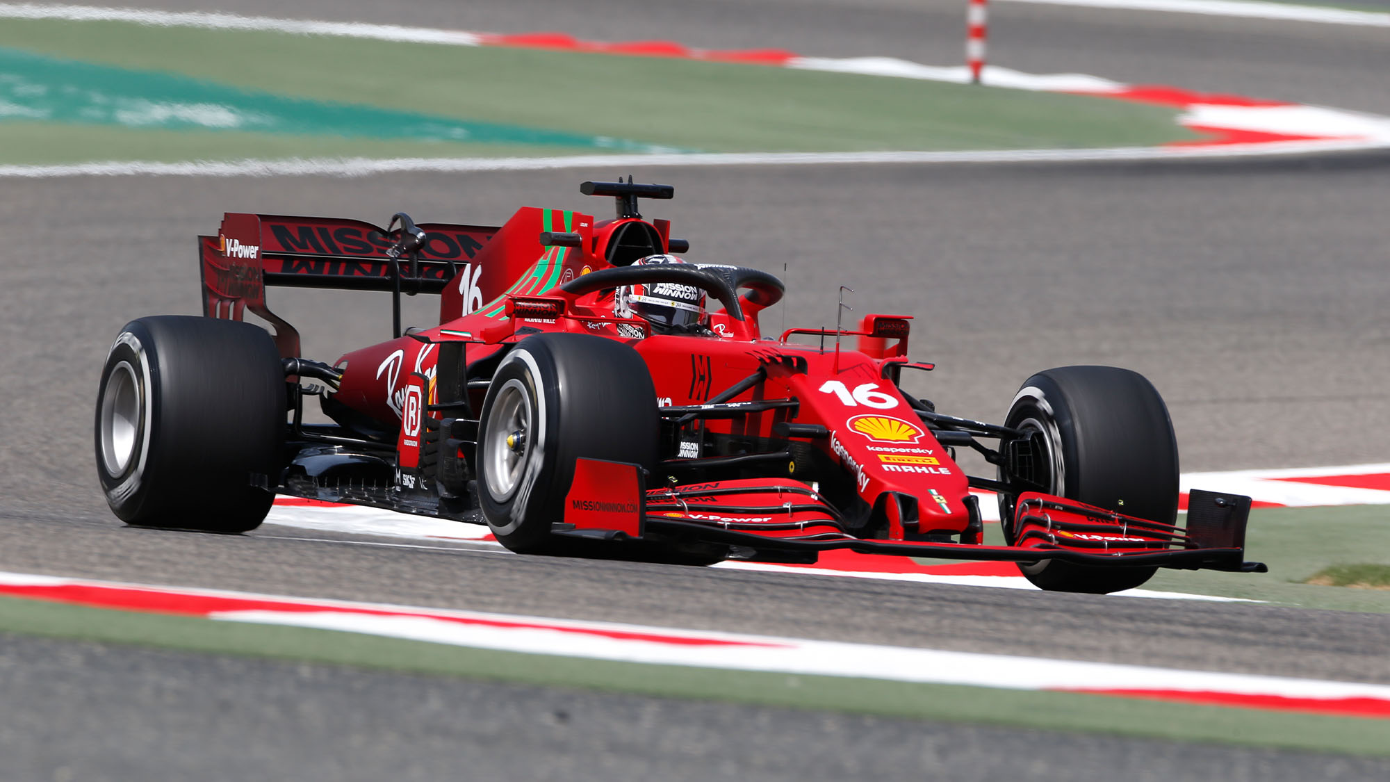 Charles Leclerc during F1 2021 preseason testing