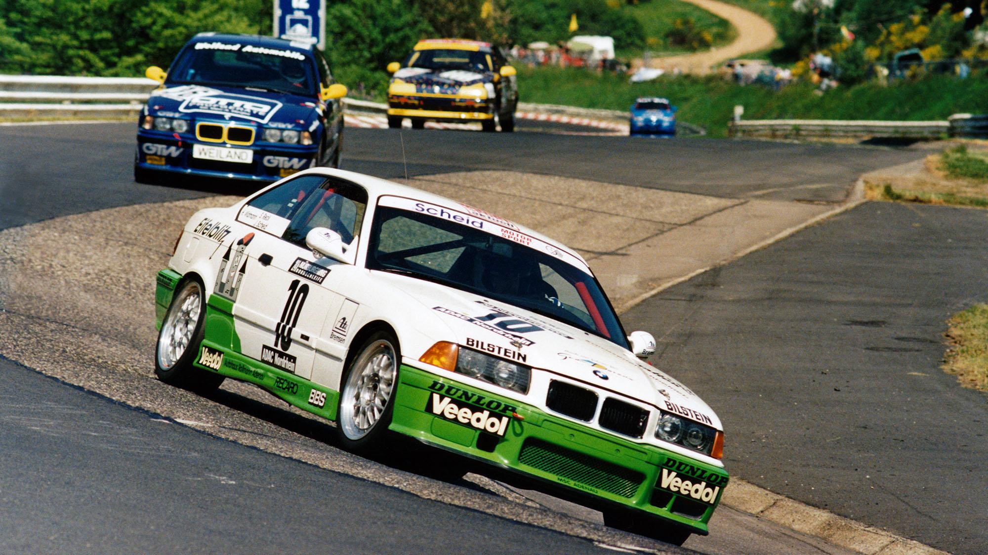 1996 Nurburgring 24 winning car with Sabine Schmitz