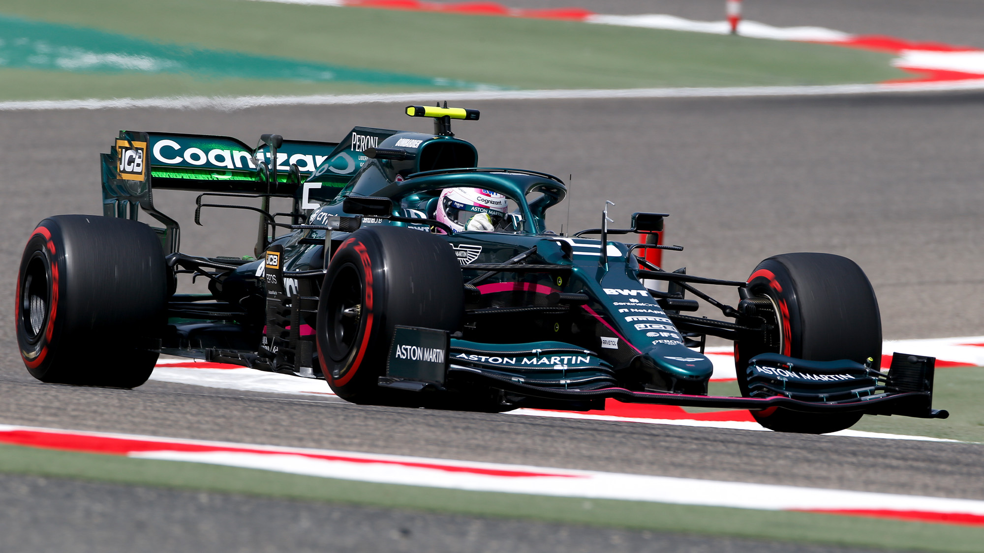 Sebastian Vettel Aston Martin testing
