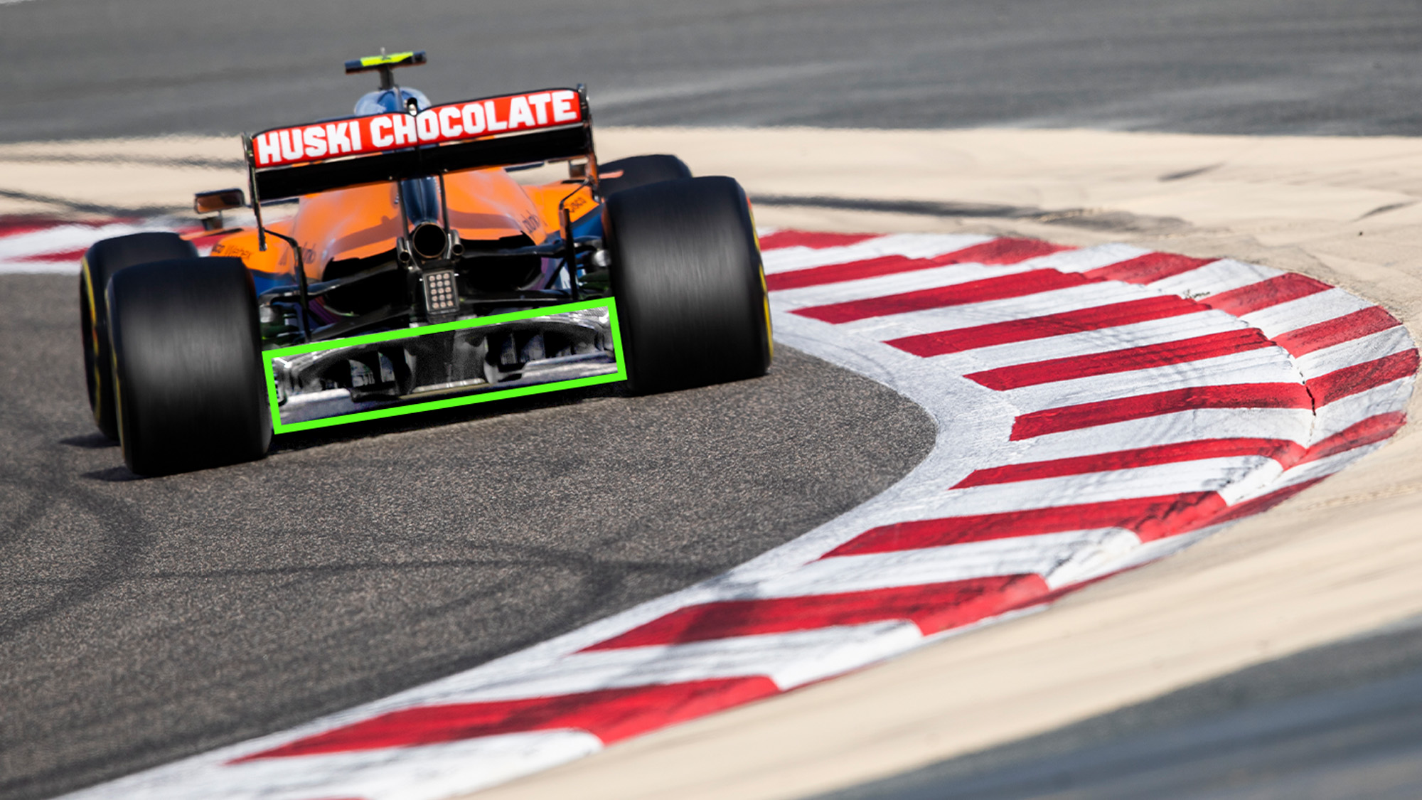 McLaren with diffuser detail