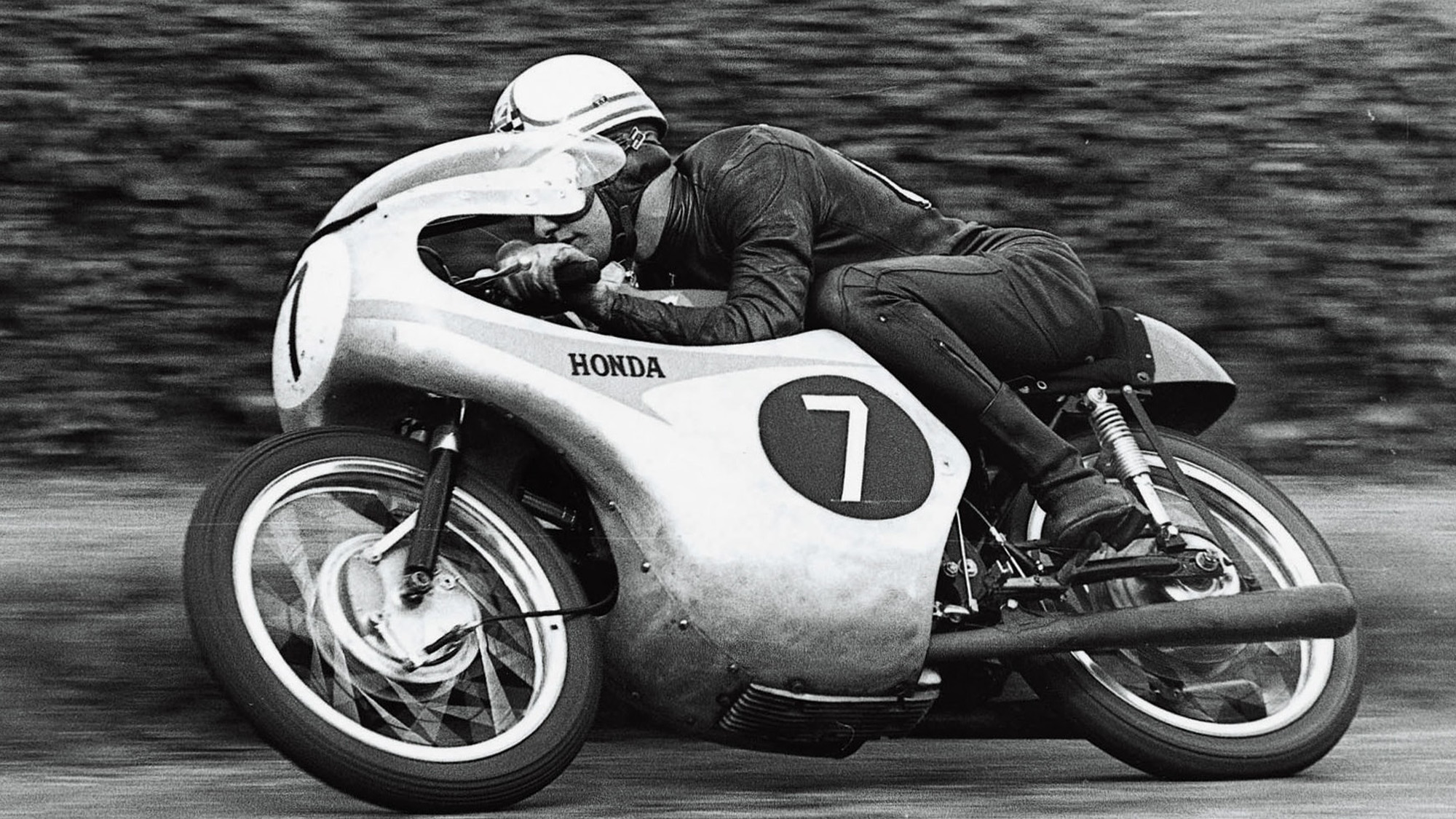 Mike Hailwood in the 1961 Isle of Man TT
