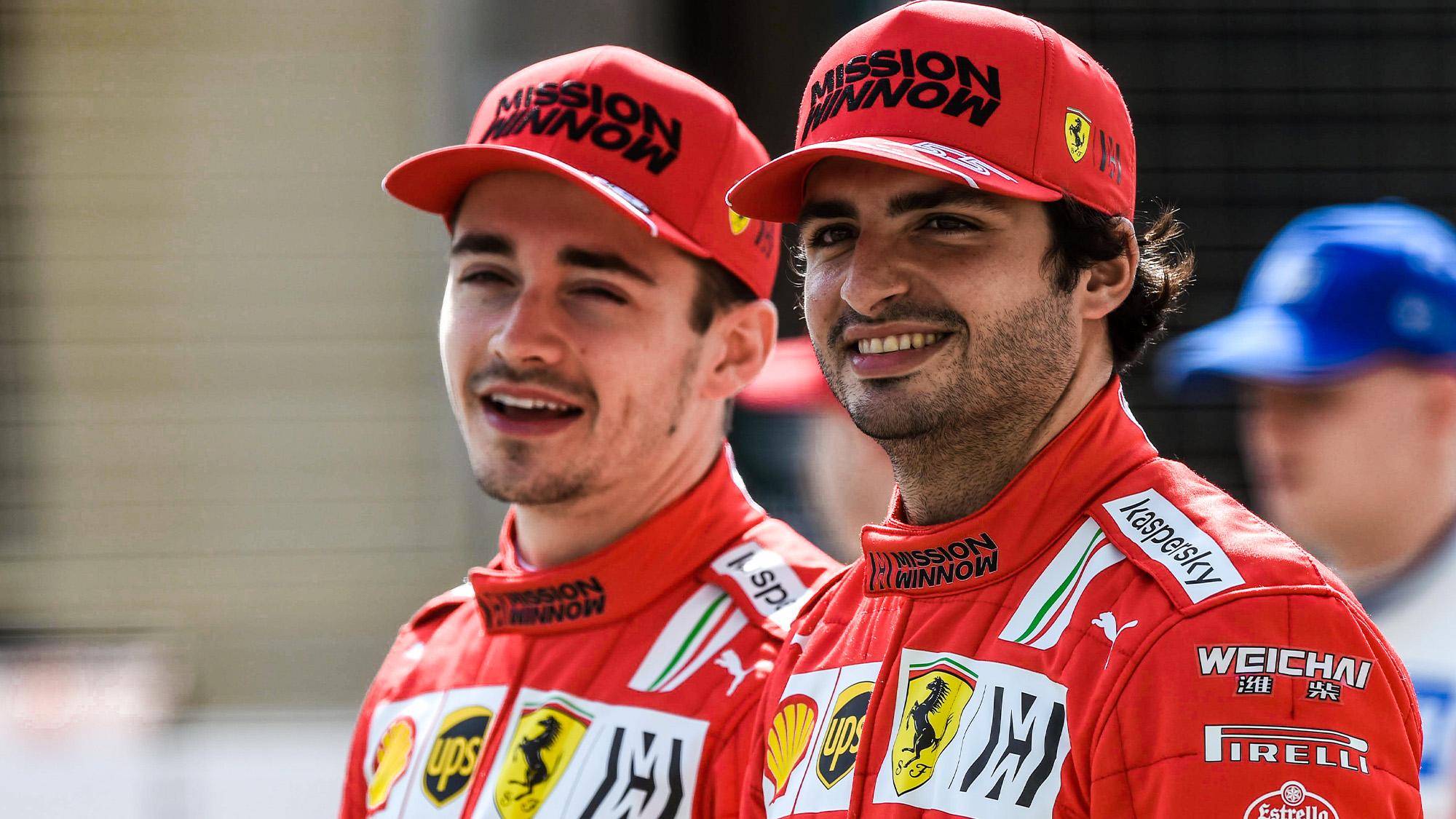 Charles Leclerc and Carlos Sainz ahead of the 2021 F1 season