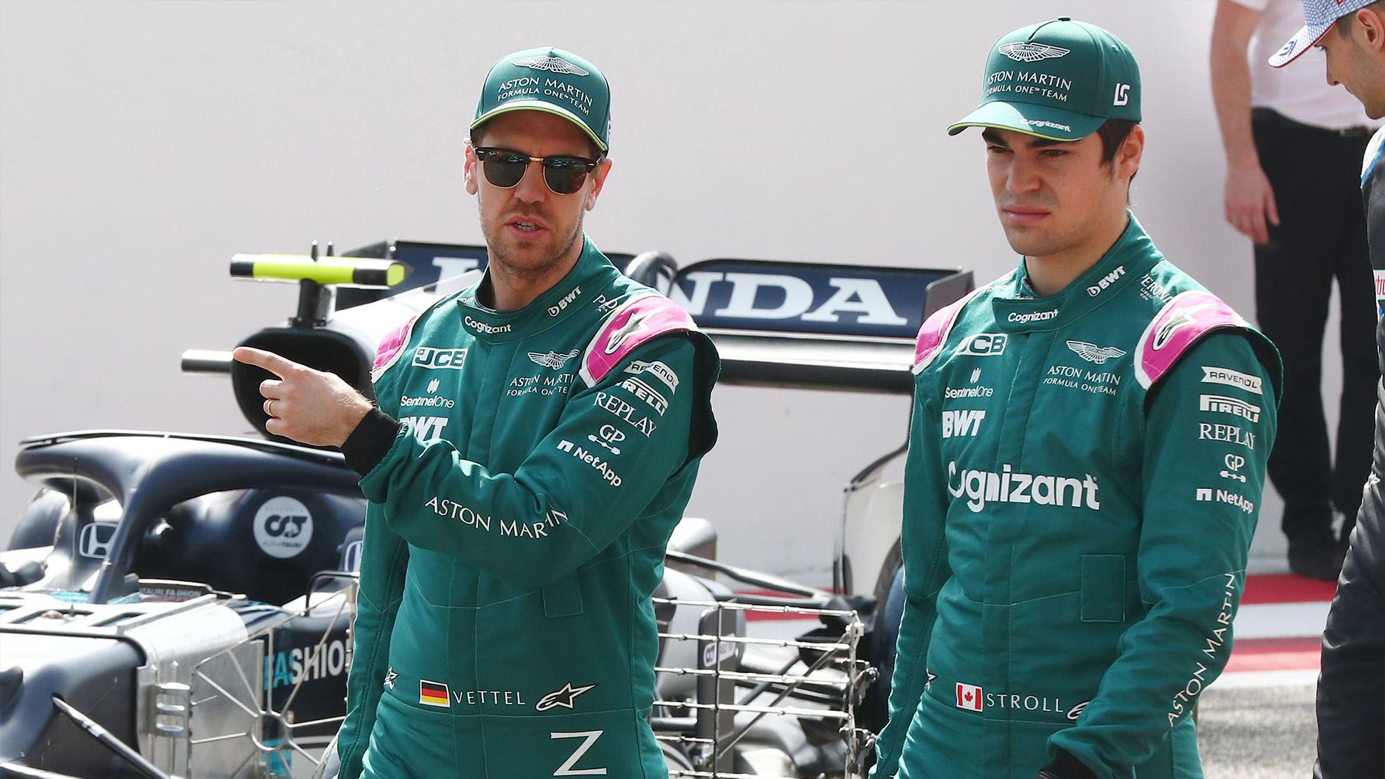Sebastian Vettel and Lance Stroll ahead of the 2021 F1 season