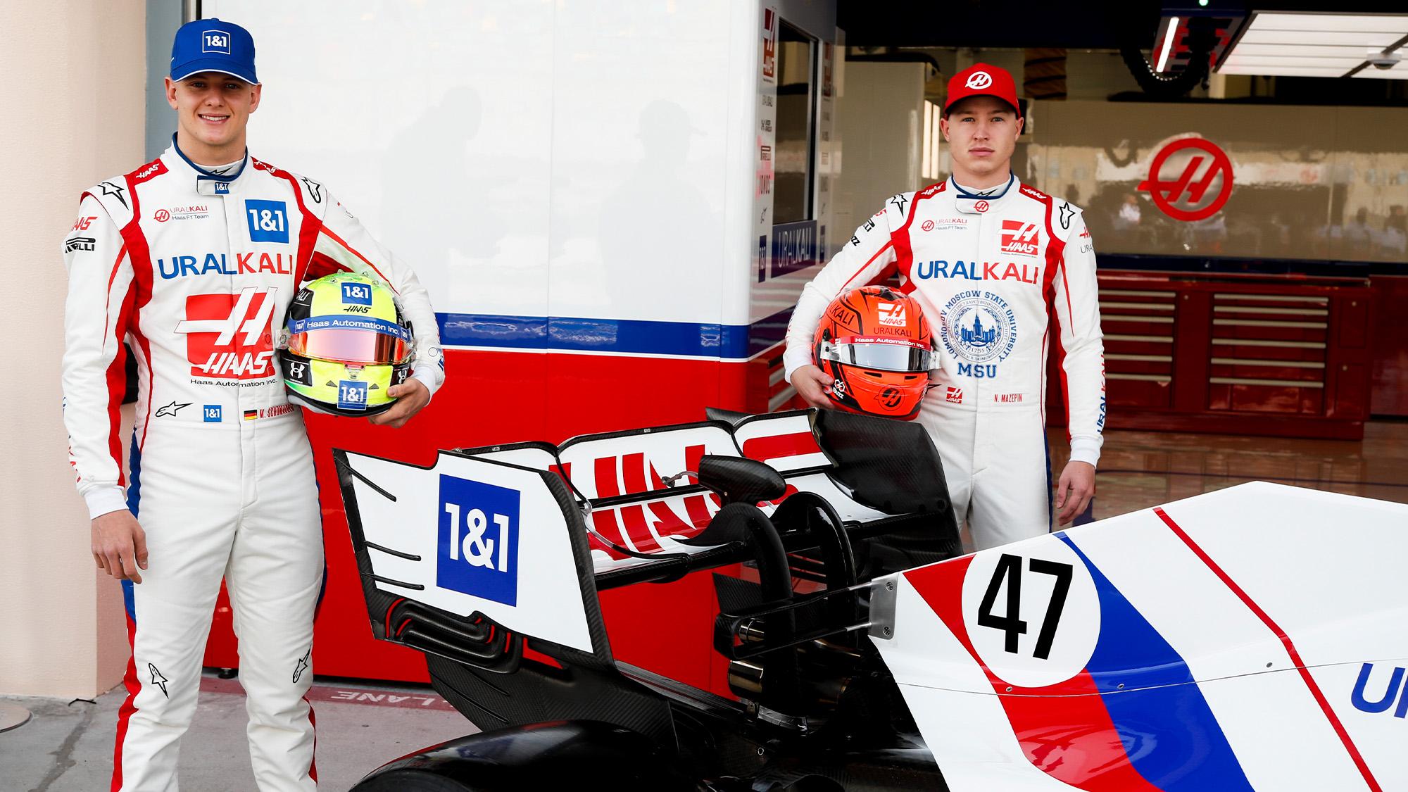 Mick Schumacher and Nikita Mazepin ahead of the 2021 F1 season