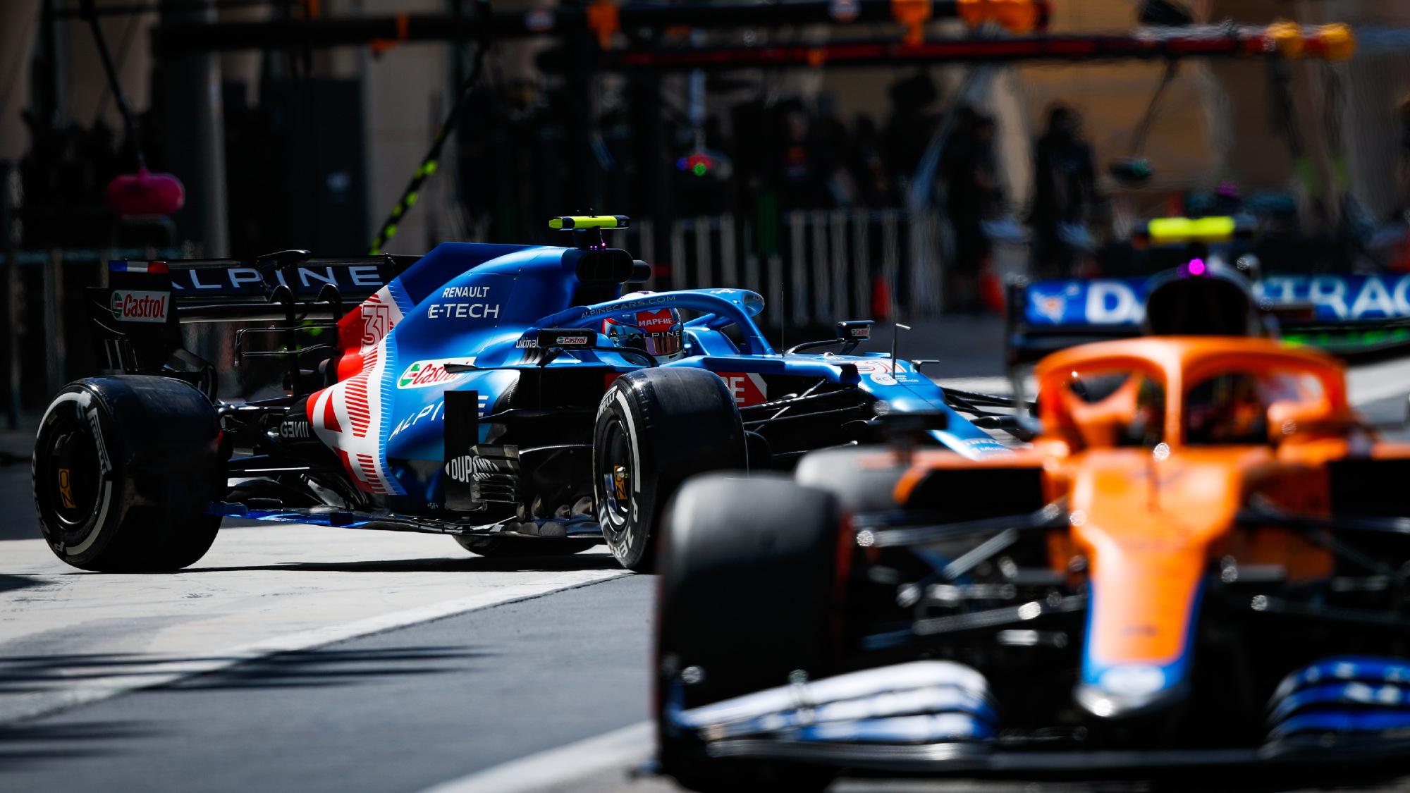 Alpine, Ocon F1 testing