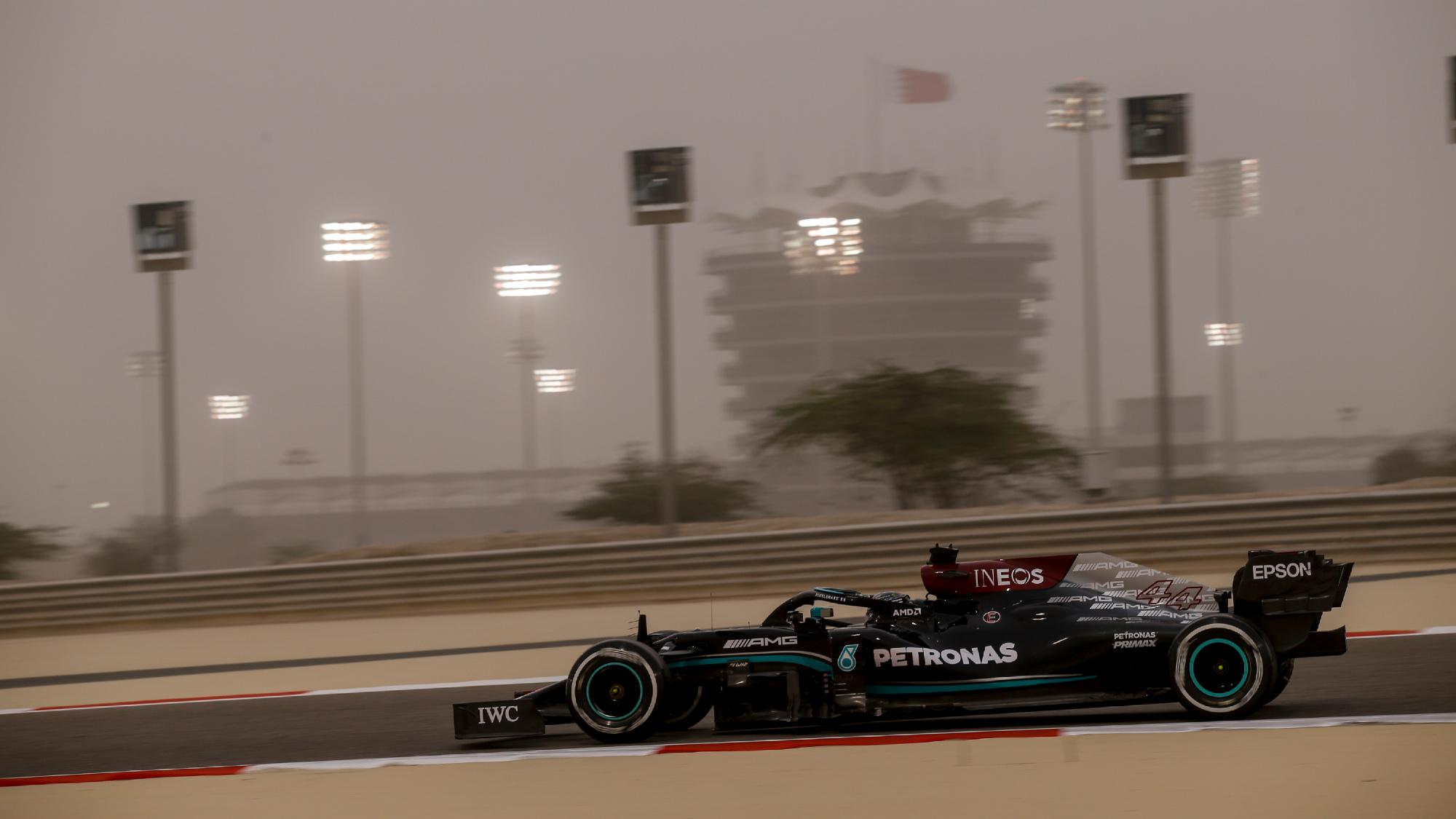 Lewis Hamilton, 2021 F1 testing
