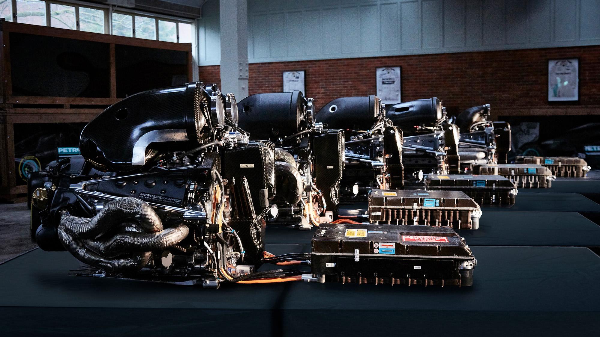 Mercedes AMG power units 2014-2018