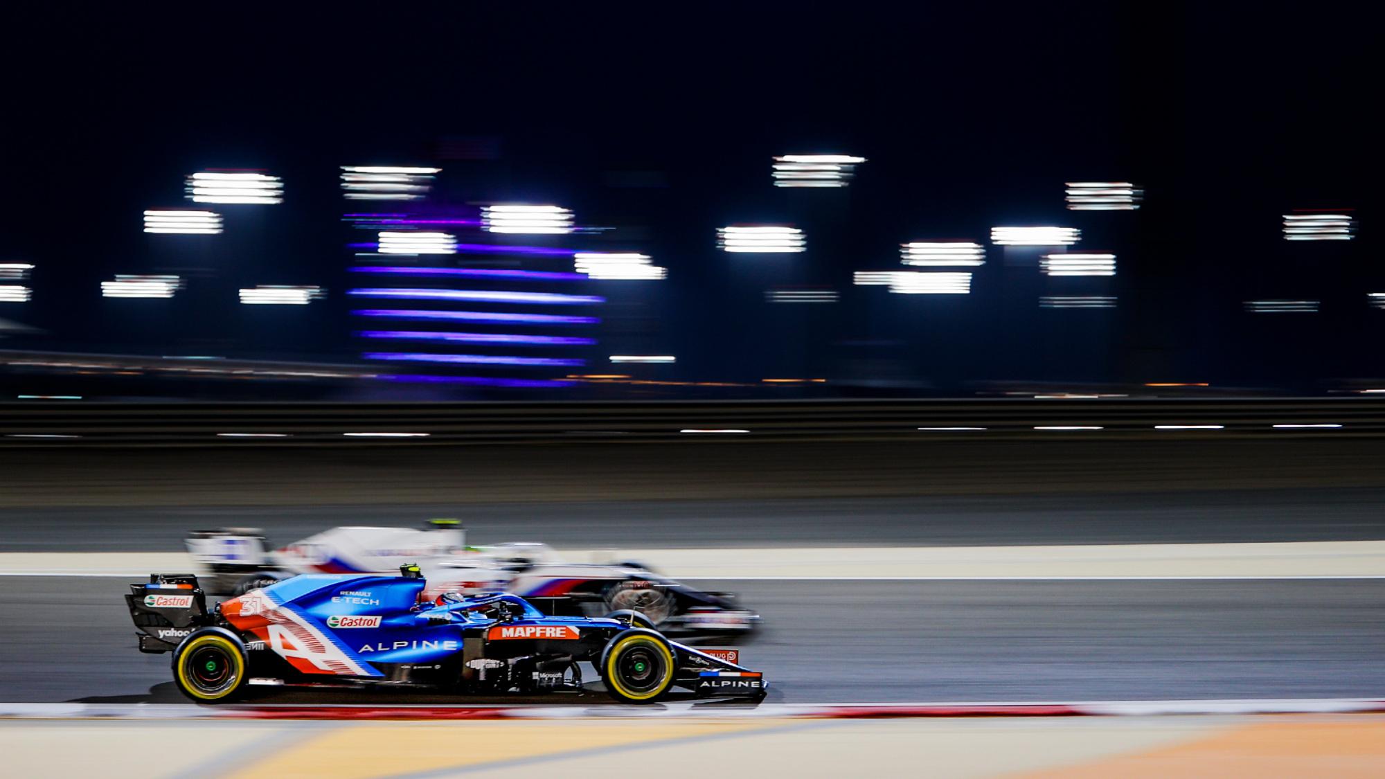 Fernando Alonso, ALpine, 2021 Bahrain GP FP2