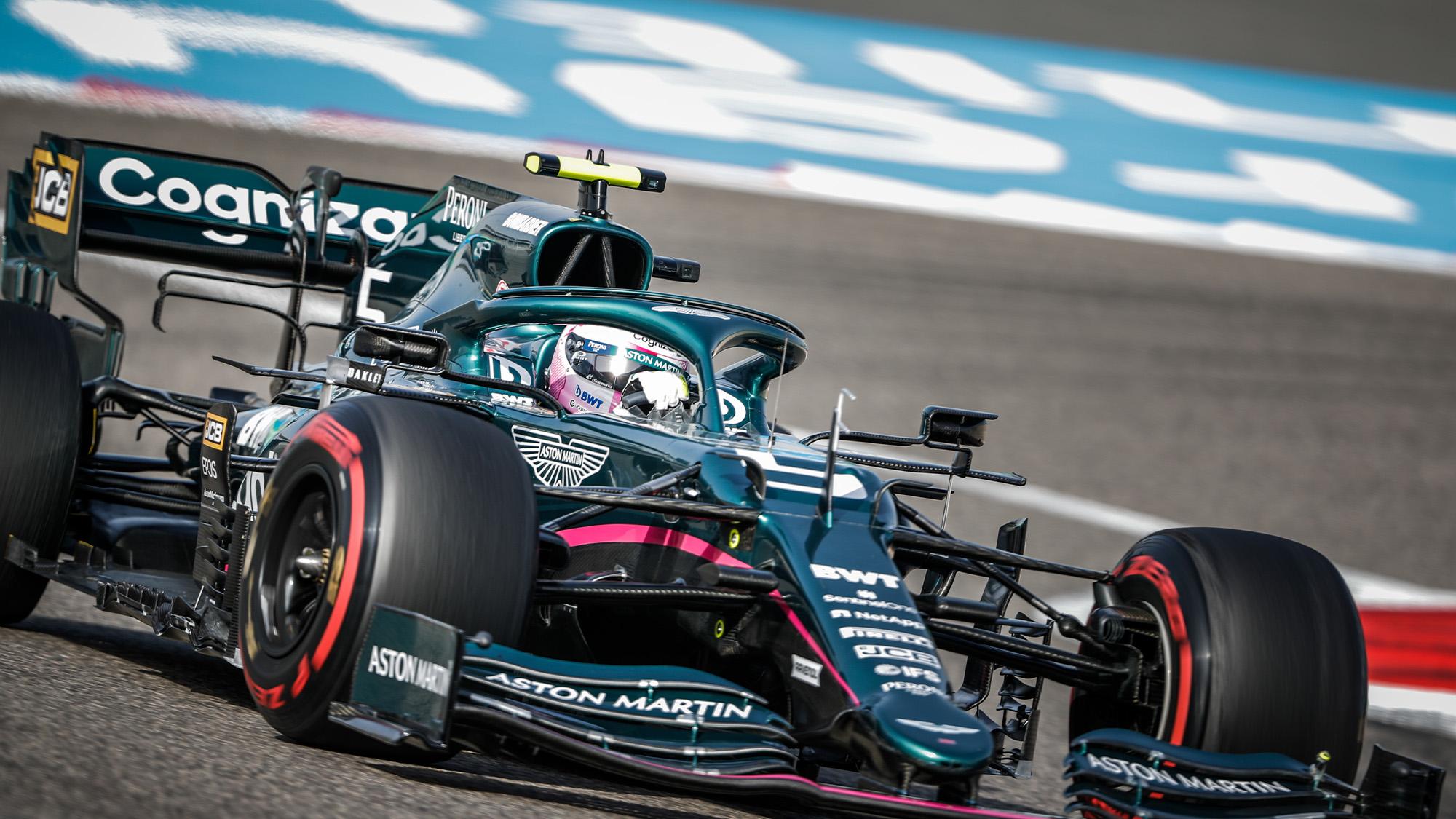 Sebastian Vettel during the 2021 Bahrain Grand Prix