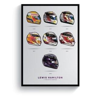 Product image for Lewis Hamilton | 7 Times World Champion | Pit Lane Prints | Art Print