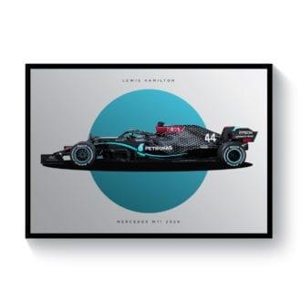 Product image for Lewis Hamilton | Mercedes W11 | Pit Lane Prints | Art Print