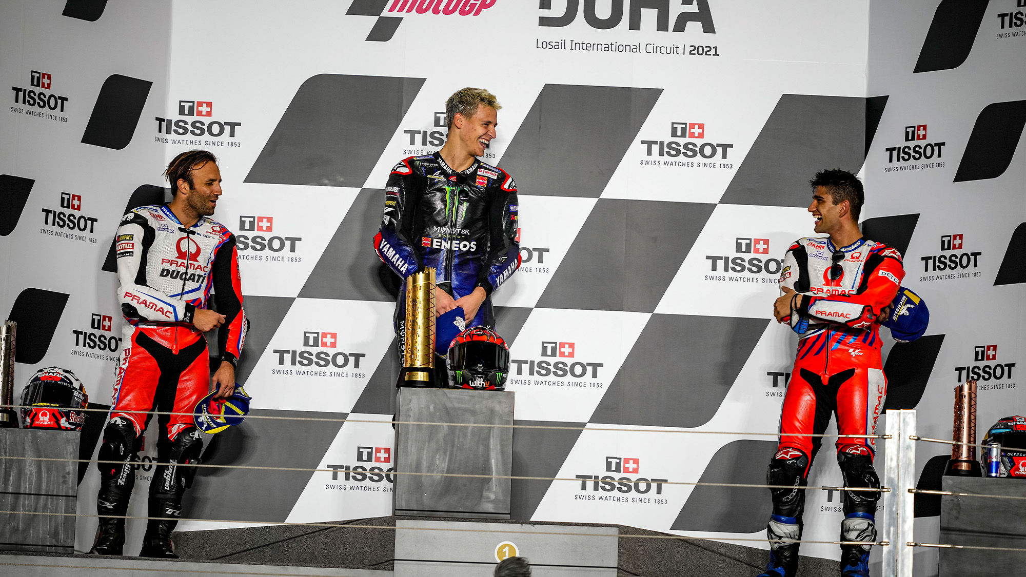 MotoGP podium in Doha 2021
