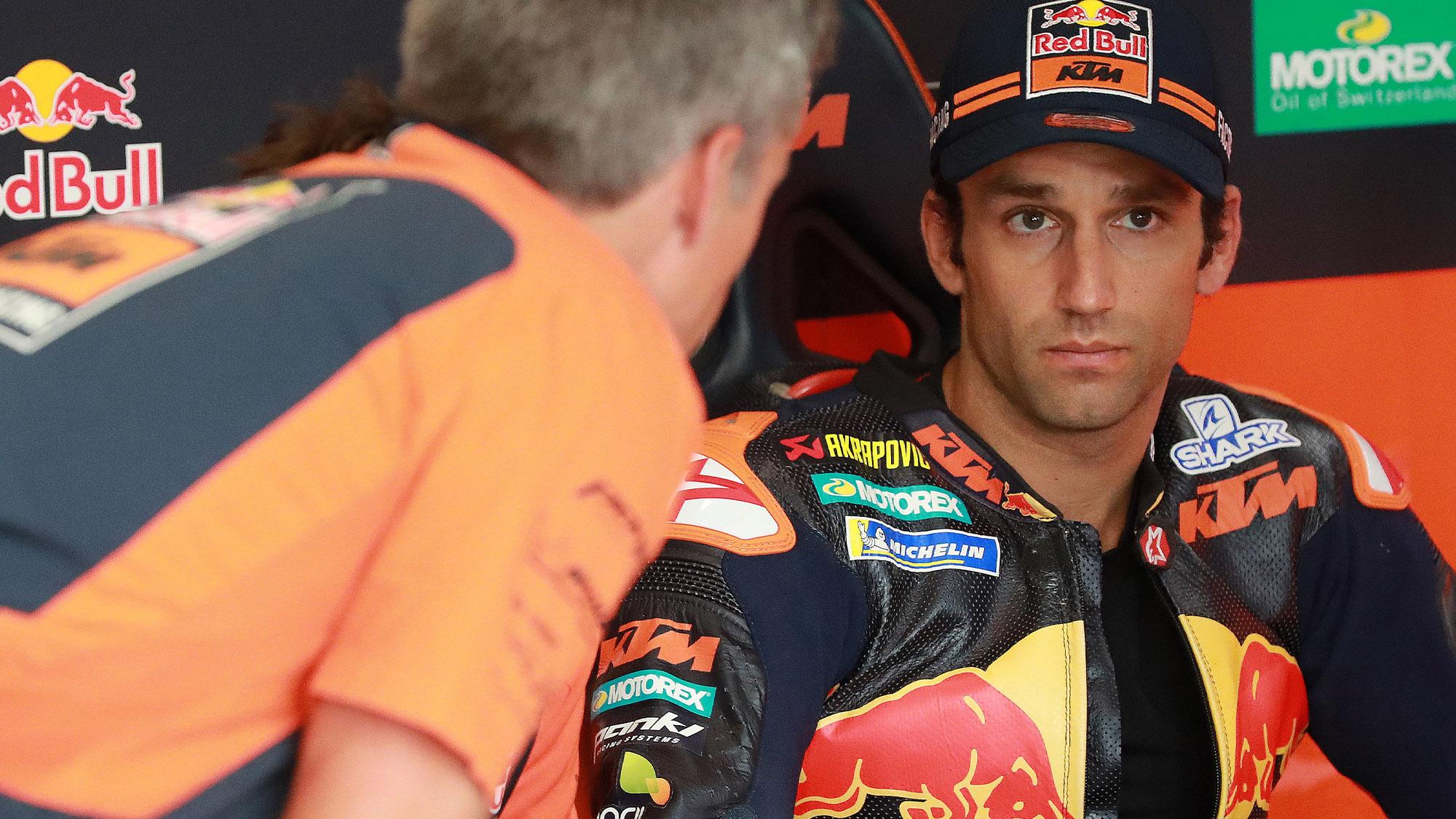 Johann Zarco with KTM in MotoGP