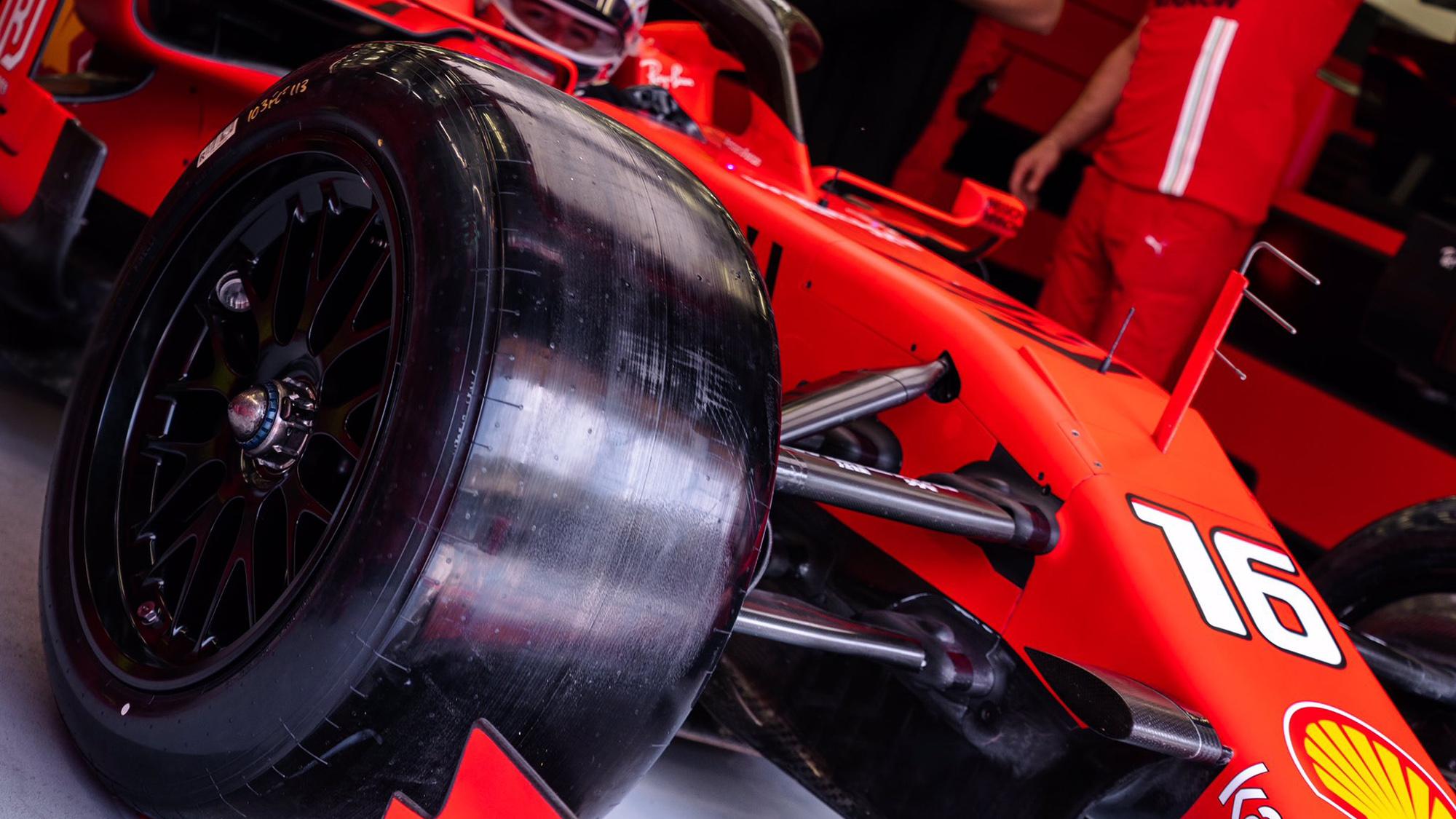 Pirelli 18in tyre test Ferrari