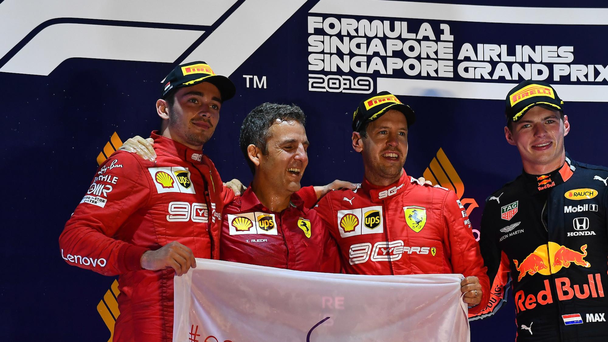 2019 Singapore Grand Prix podium