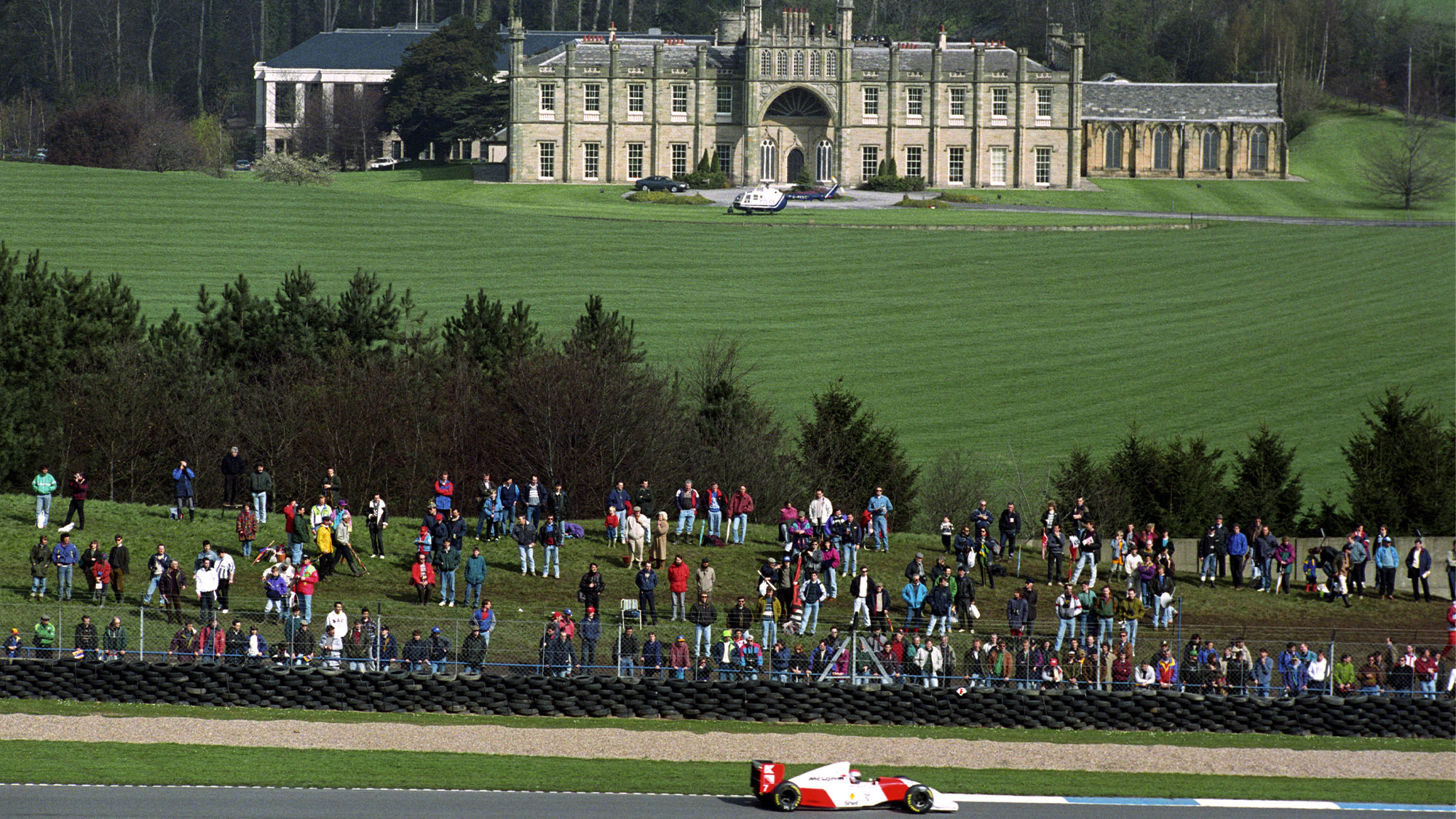 Donington Hall during the 1993 European Grand Prix weekend