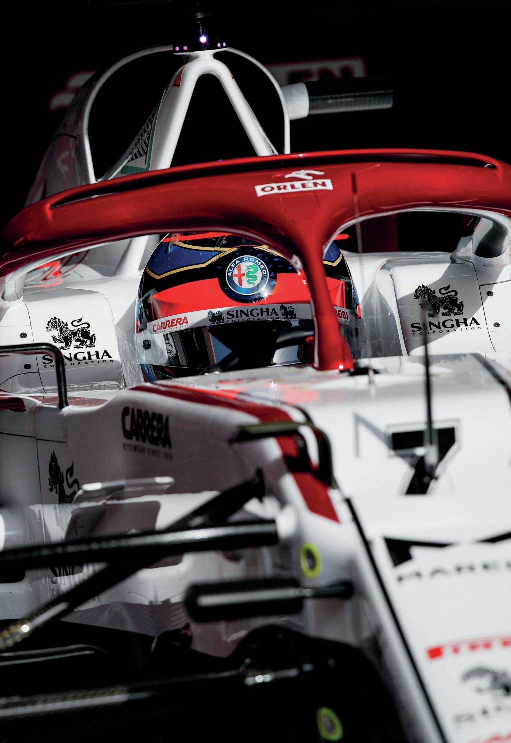 Kimi Raikkonen in the 2021 Bahrain Grand Prix