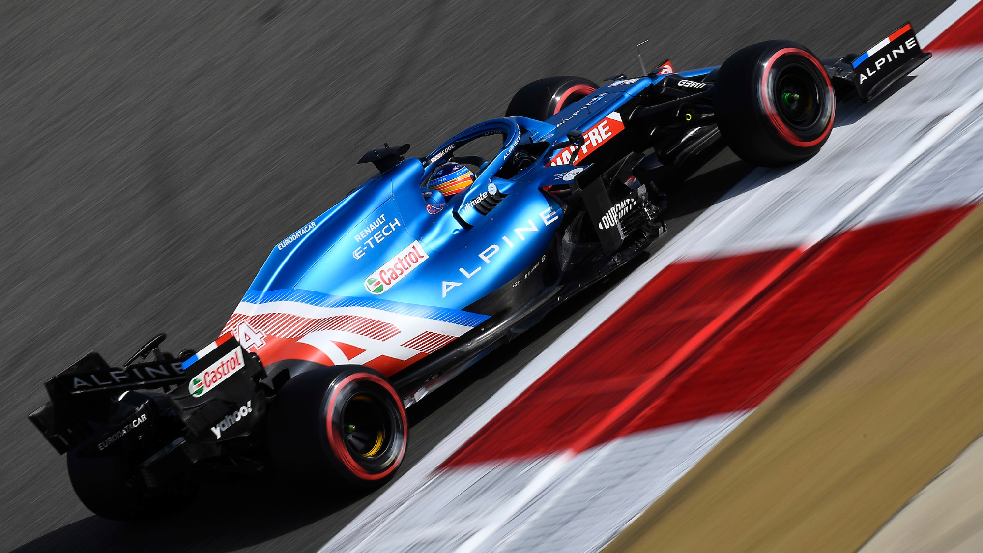 Fernando Alonso, Alpine, 2021 Bahrain GP