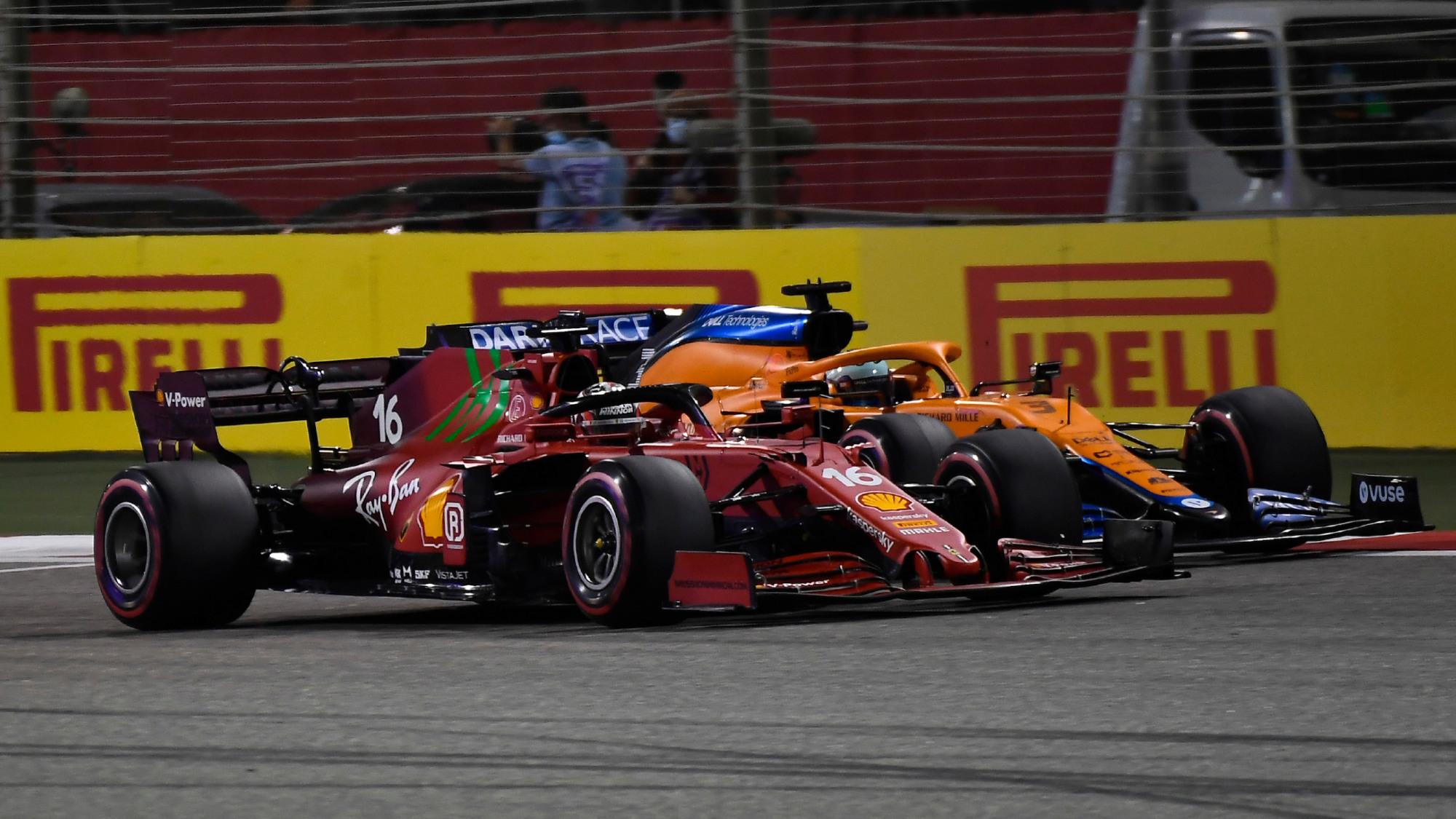 Ferrari, McLaren, 2021 Bahrain Grand Prix