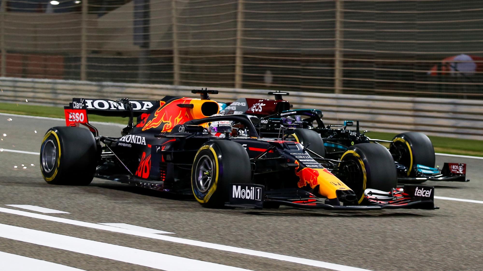 Max Verstappen, Lewis Hamilton, 2021 Bahrain GP
