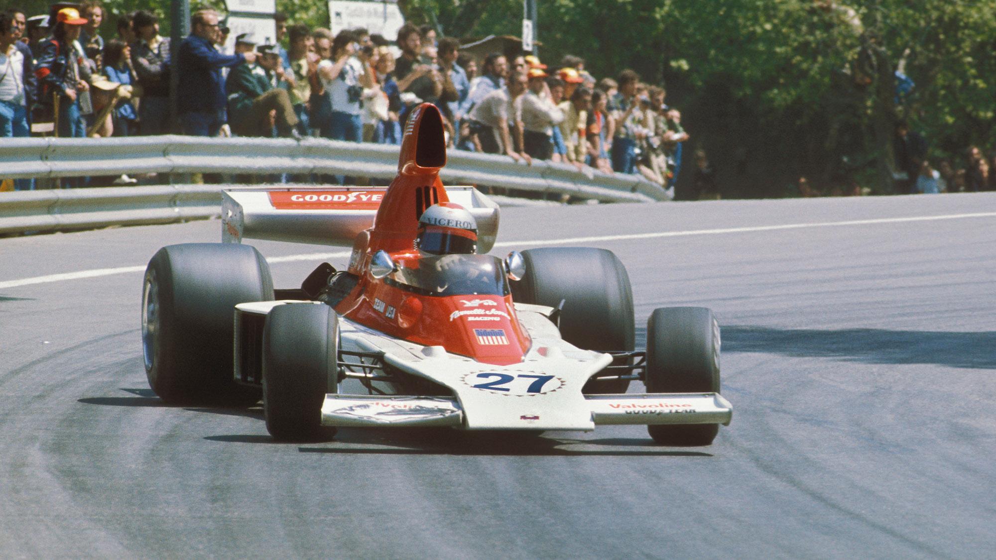 Mario Andretti in the VPJ-4 qt the 1976 Spanish Grand Prix