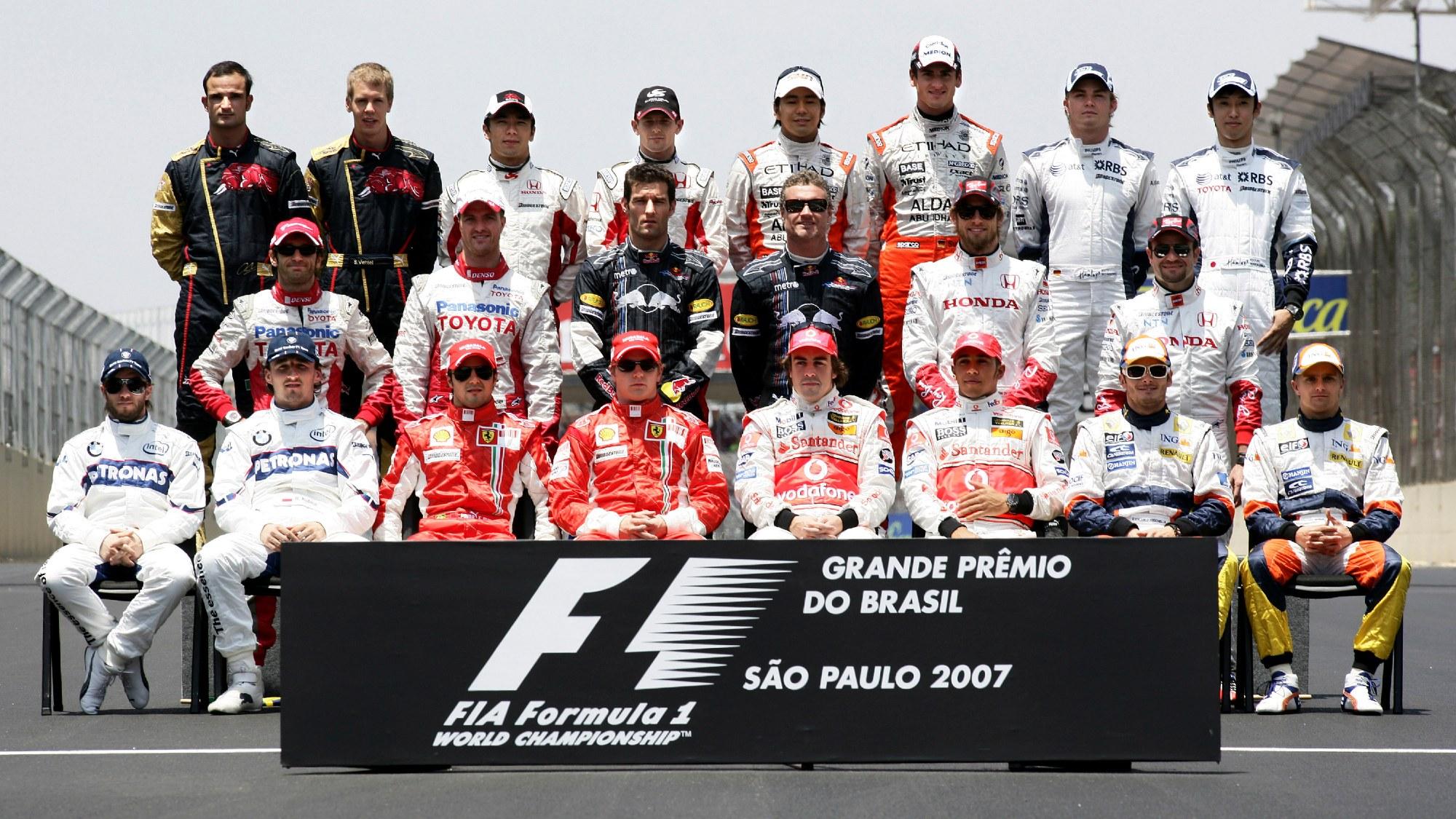 2007 Brazilian GP, driver photos