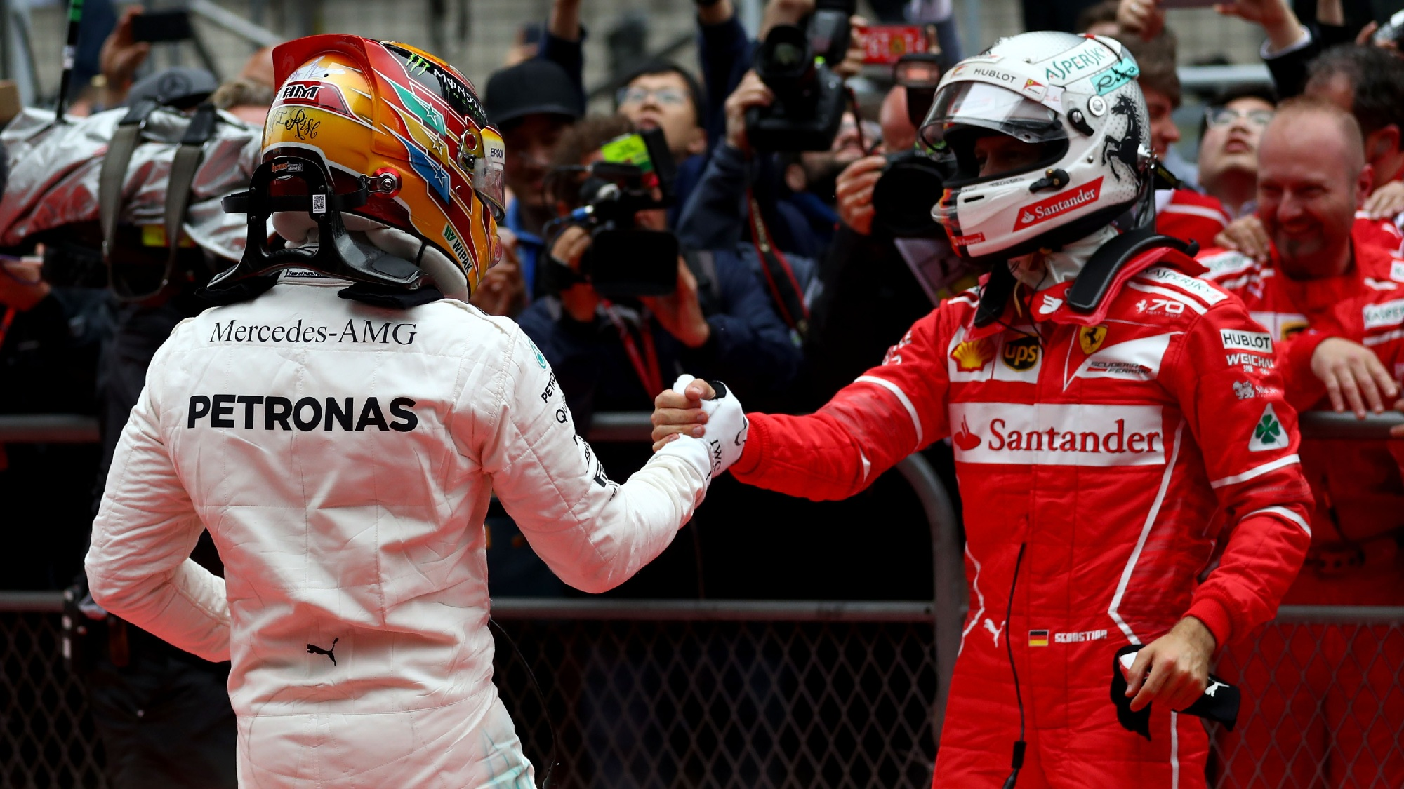 Lewis Hamilton, Sebastian Vettel 2017 Chinese GP
